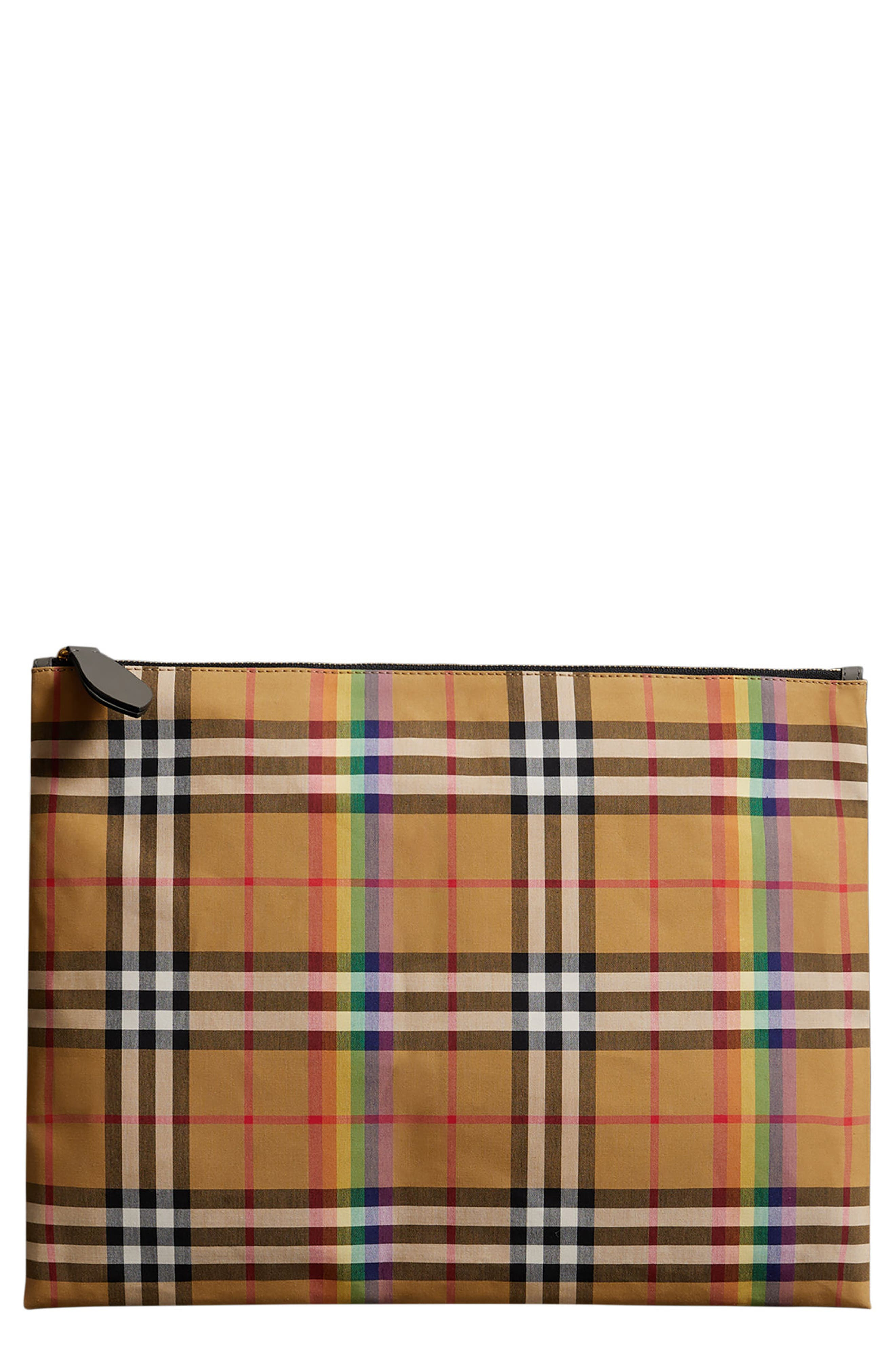 Burberry Large Check Canvas Pouch