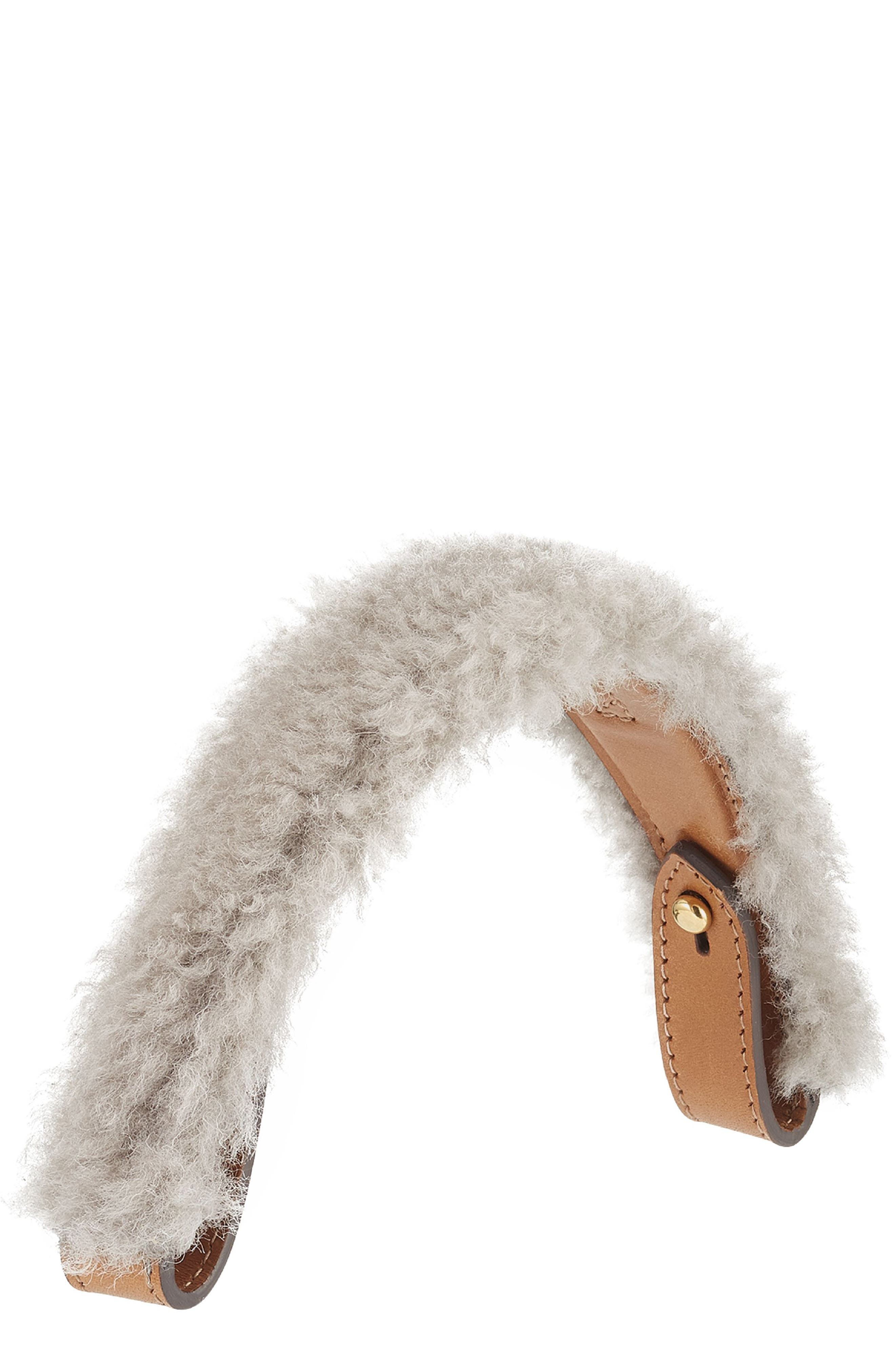 Anya Hindmarch Build a Bag Genuine Shearling & Leather Handle