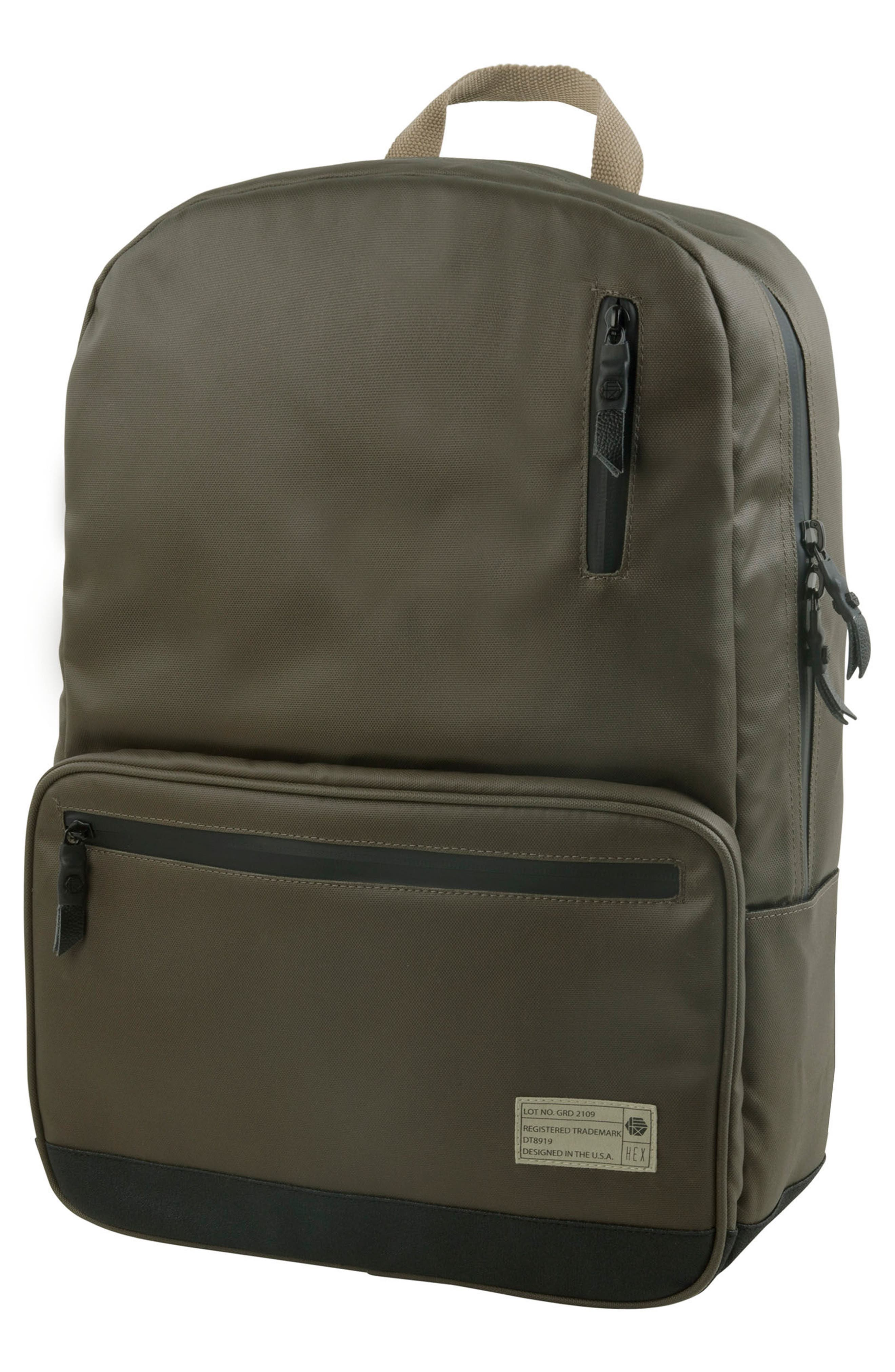 Watney Signal Backpack,                         Main,                         color, Olive