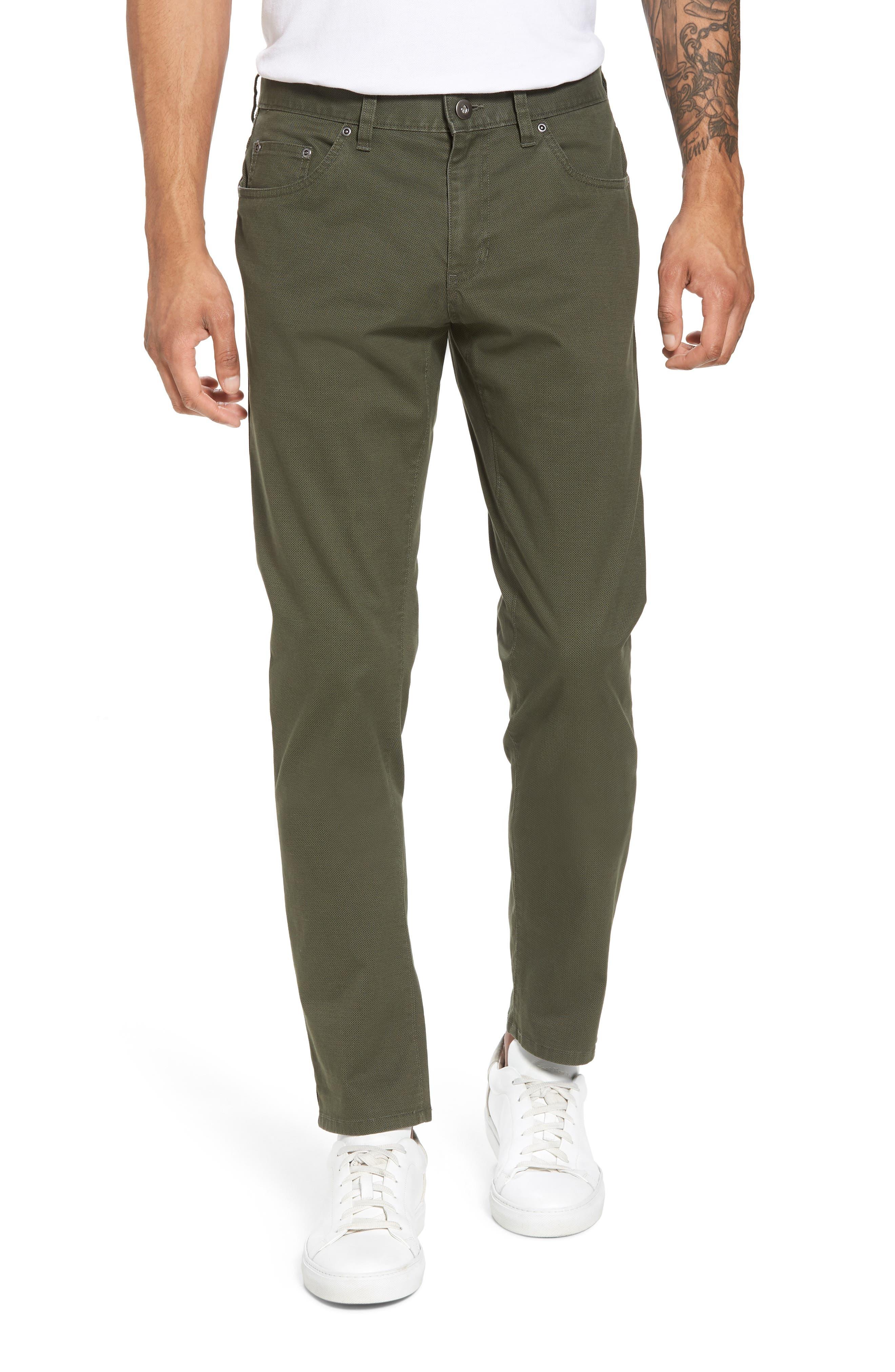 Nordstrom Men's Shop Textured Stretch Cotton Pants