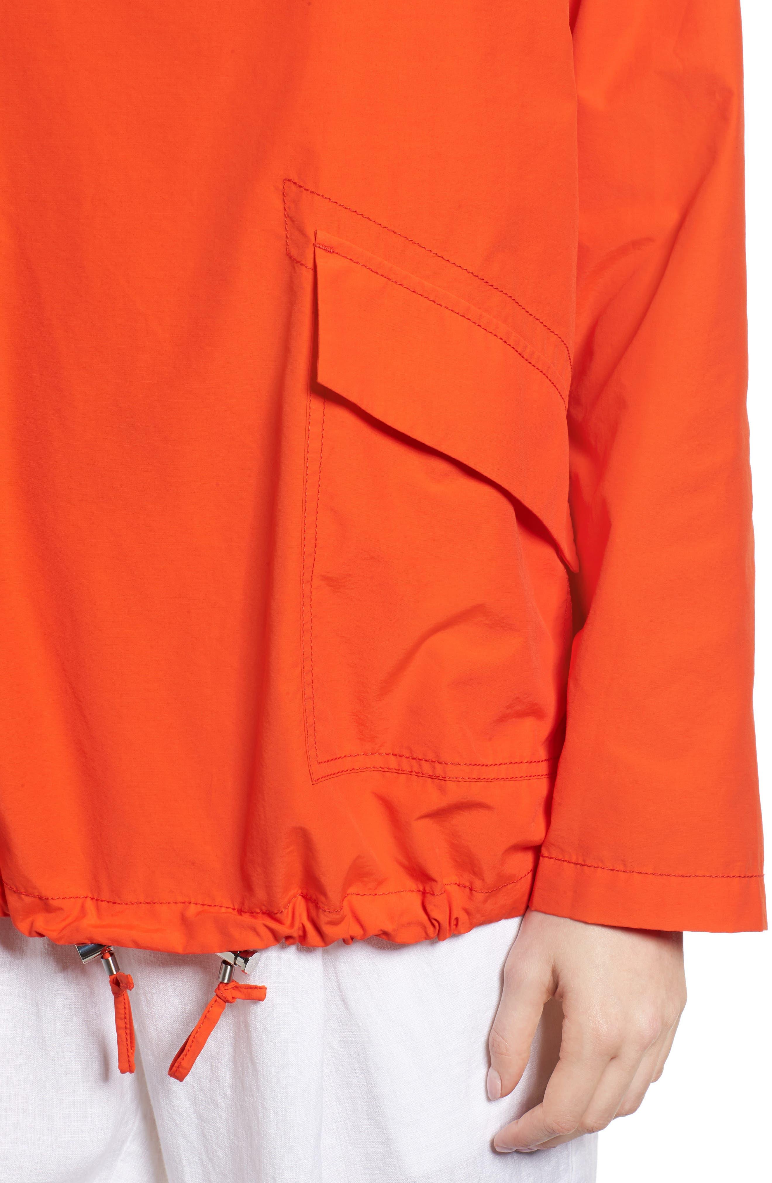 Pullover Jacket,                             Alternate thumbnail 4, color,                             Hot Red