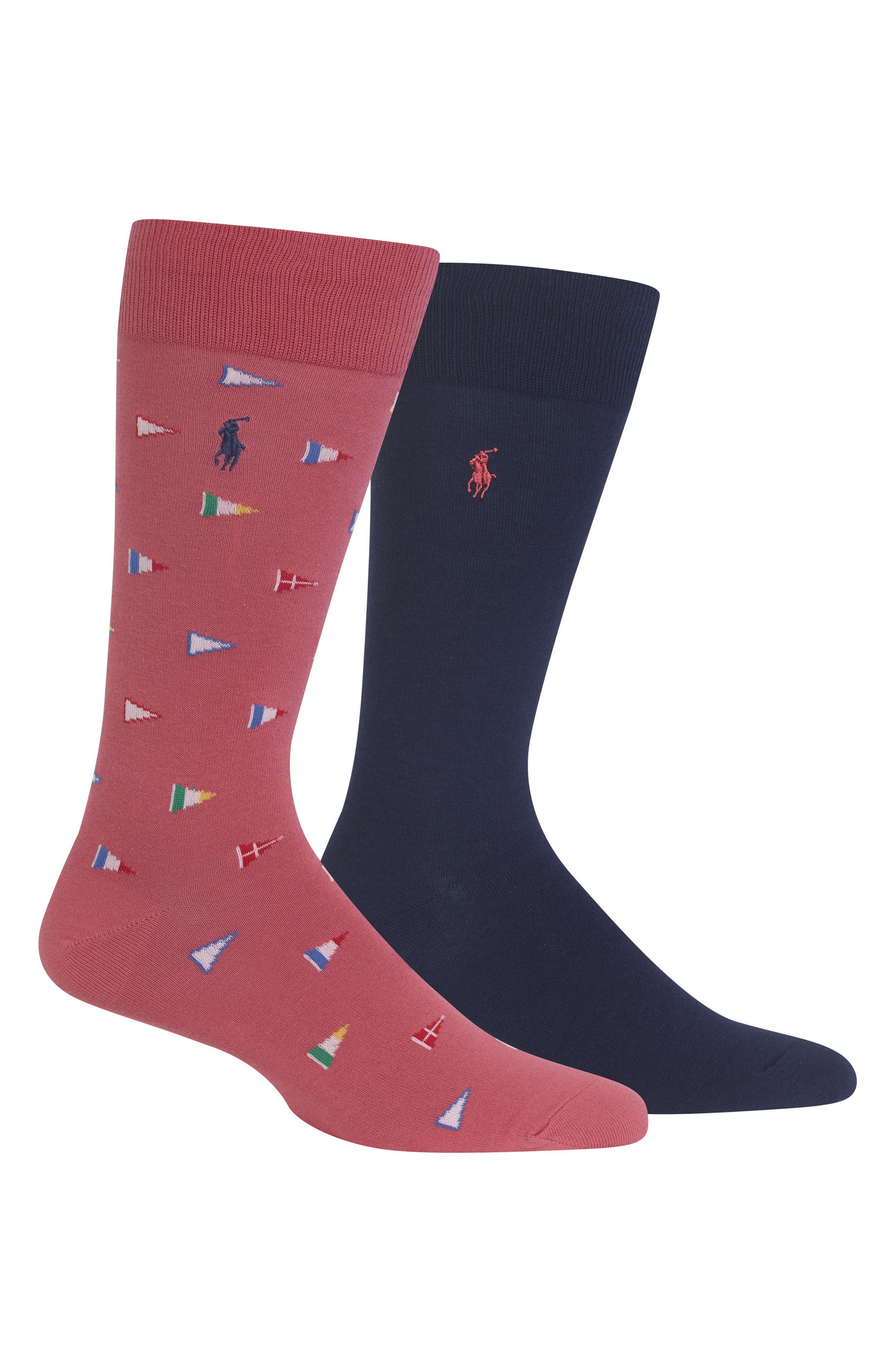 Alternate Image 1 Selected - Ralph Lauren 2-Pack Flags Socks