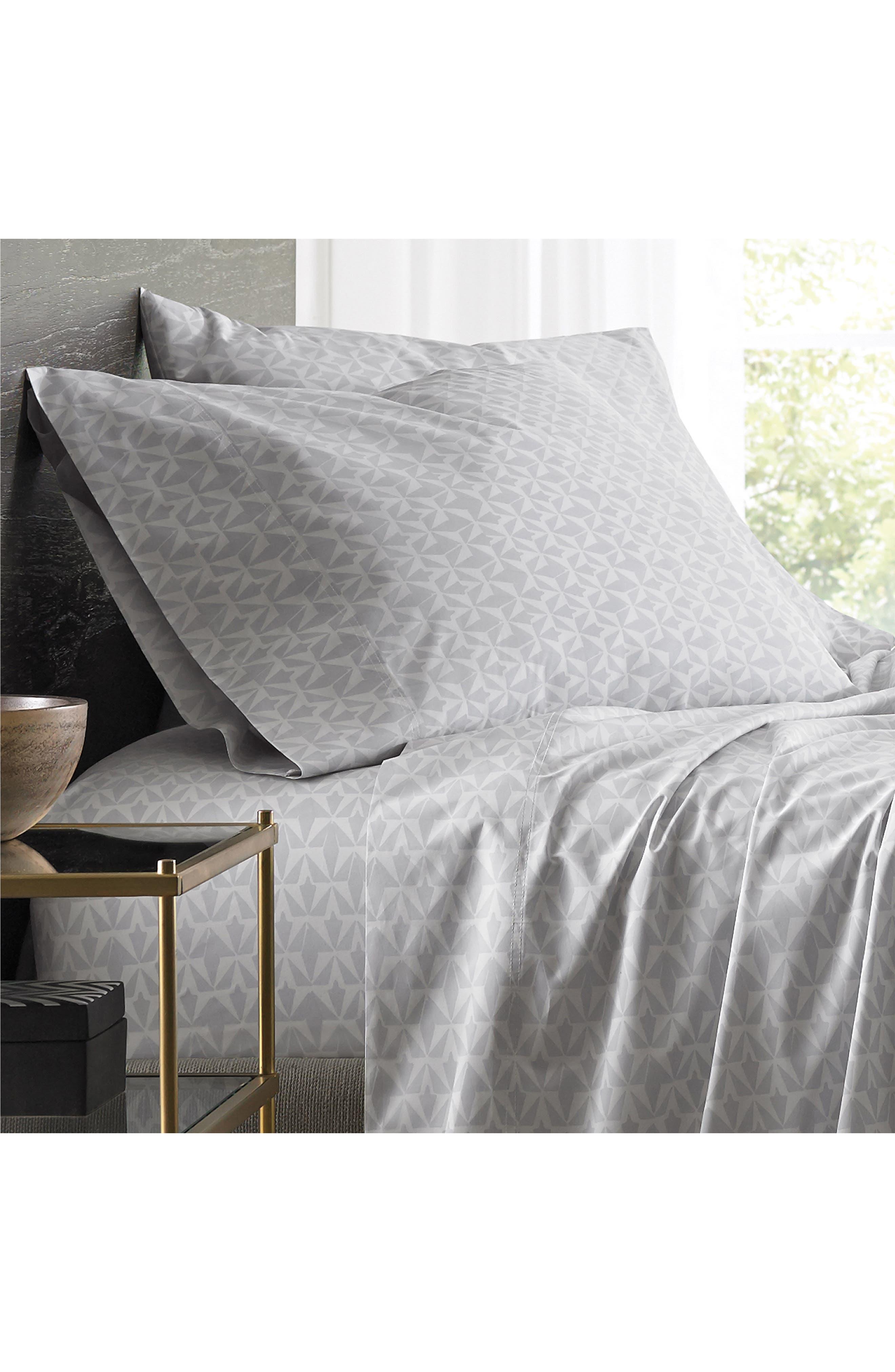 Grasslands 300 Thread Count Pair of Pillowcases,                             Alternate thumbnail 2, color,                             Nibus/ Light/ Pastel Grey