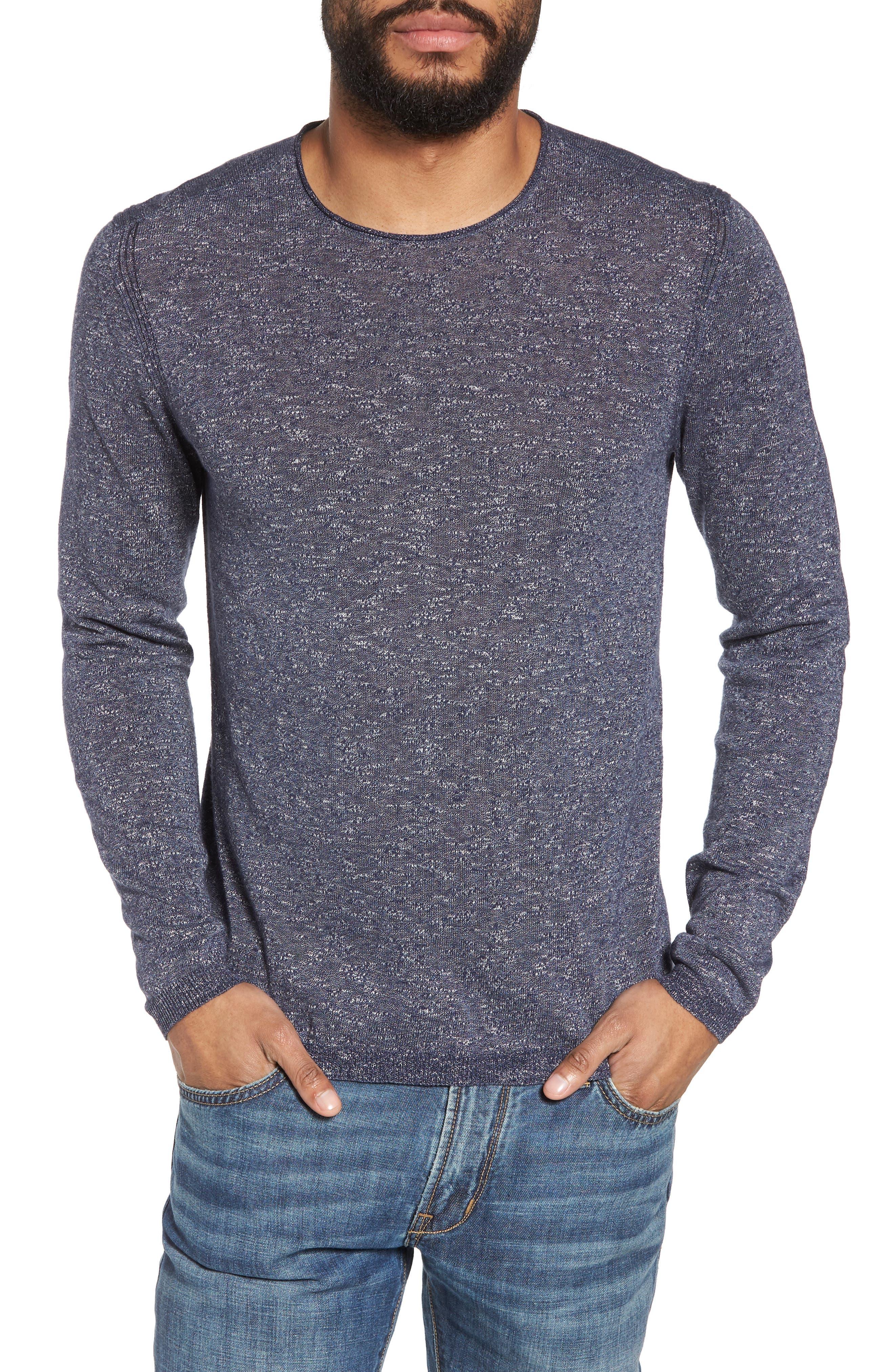 Slim Fit Cotton Blend Sweater,                             Main thumbnail 1, color,                             Officer Blue