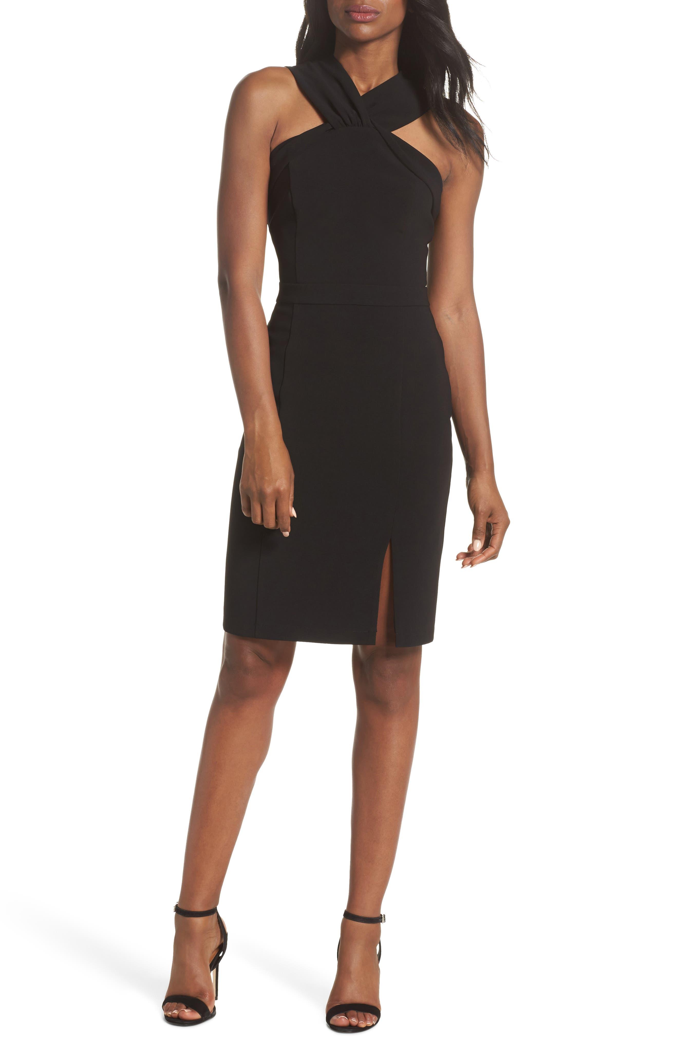 Wanda Sleeveless Sheath Dress,                             Main thumbnail 1, color,                             Black