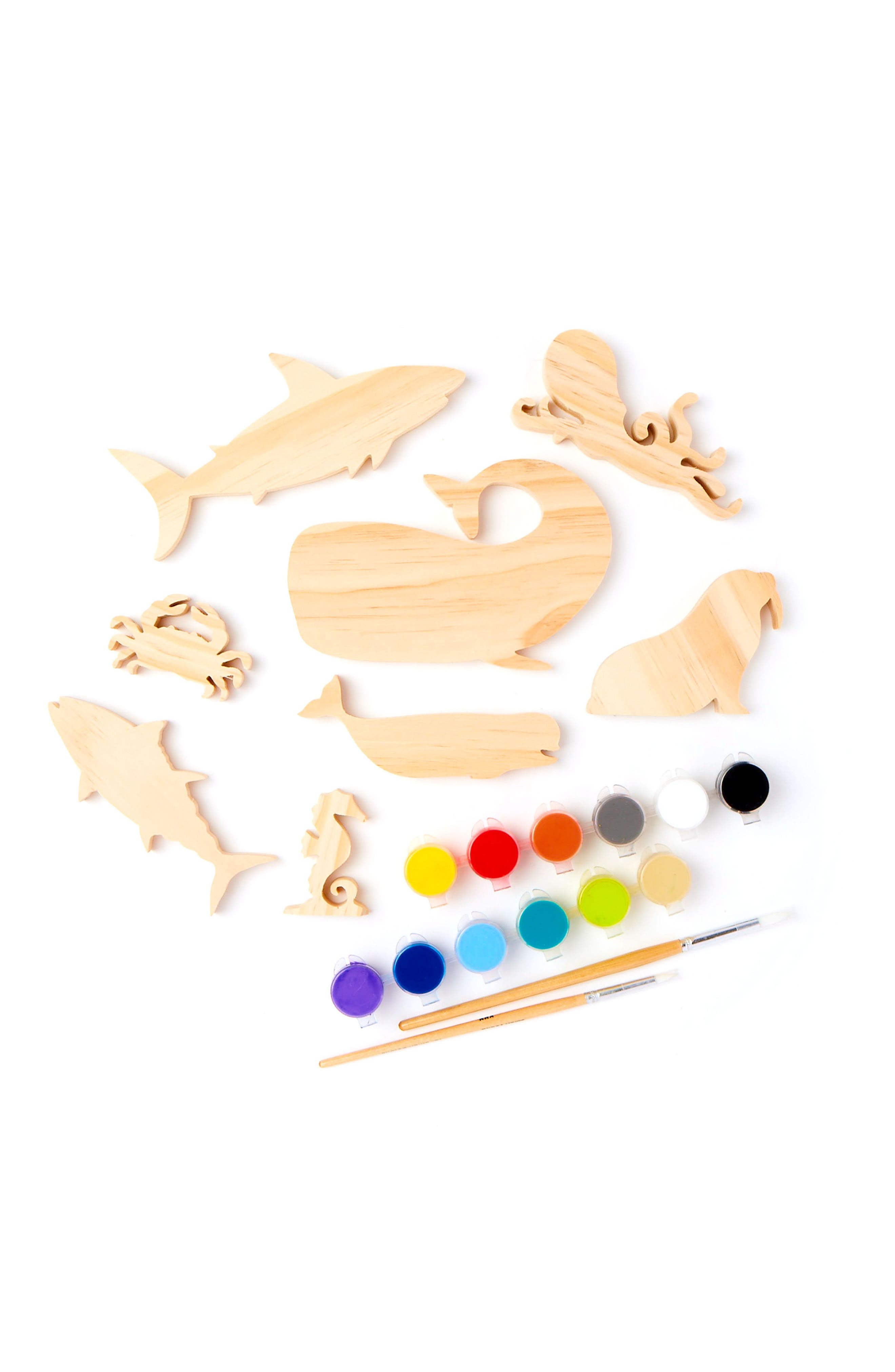 Alternate Image 2  - Kid Made Modern 12-Piece Aquatic Adventure Toy Painting Kit