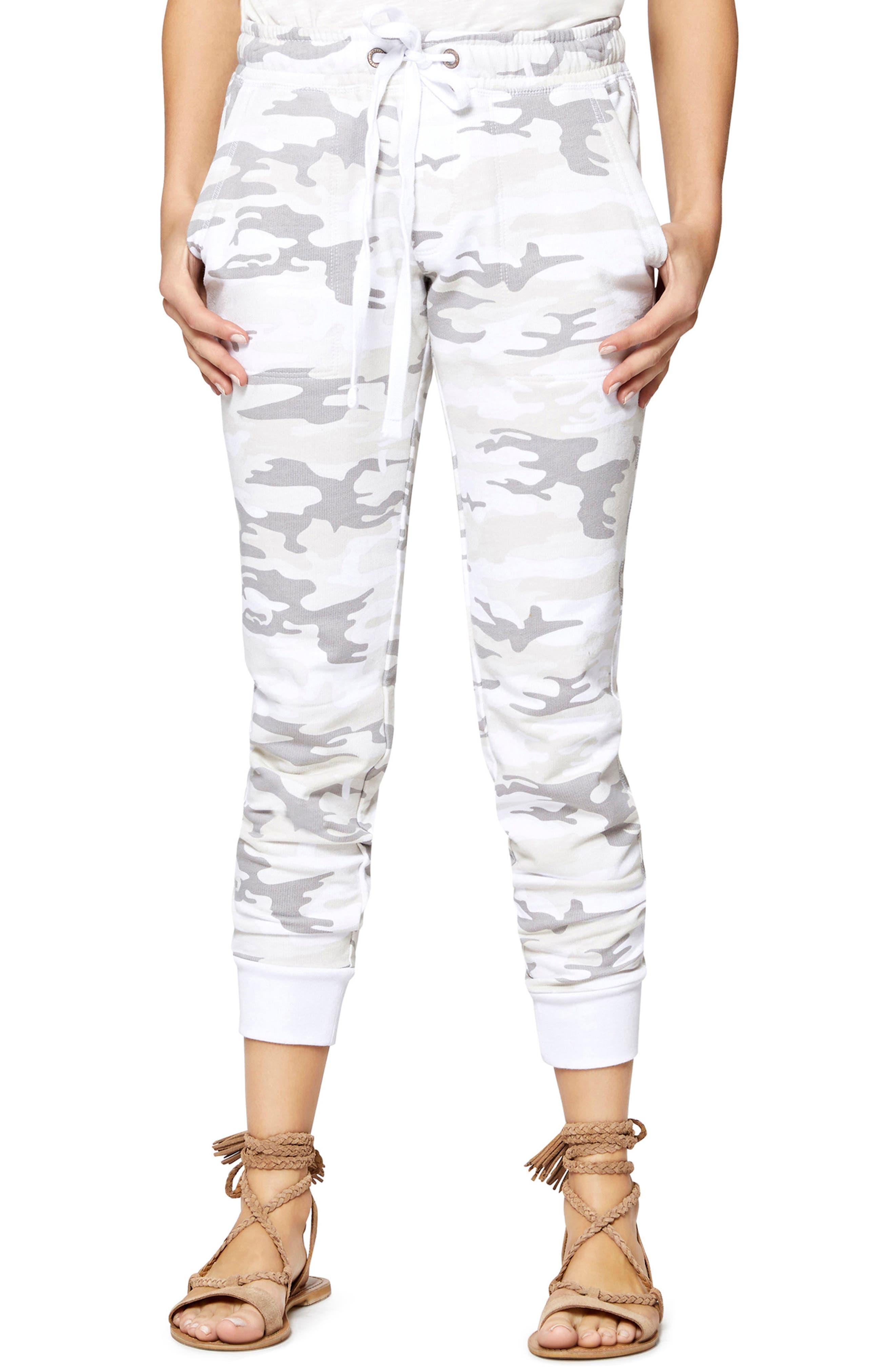 Peace Brigade Jogger Pants,                         Main,                         color, White Camo