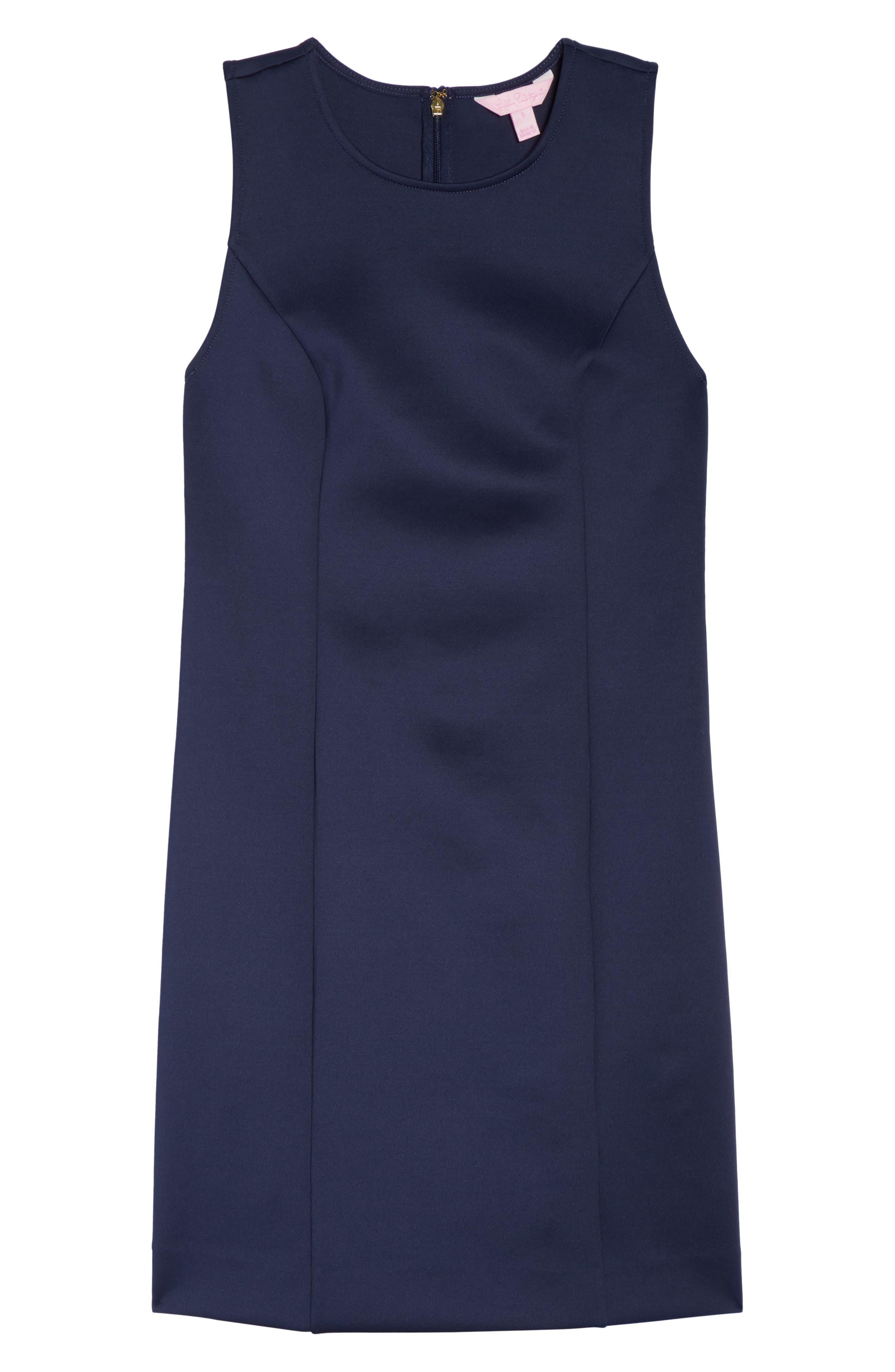 Mila Sheath Dress,                             Alternate thumbnail 6, color,                             True Navy