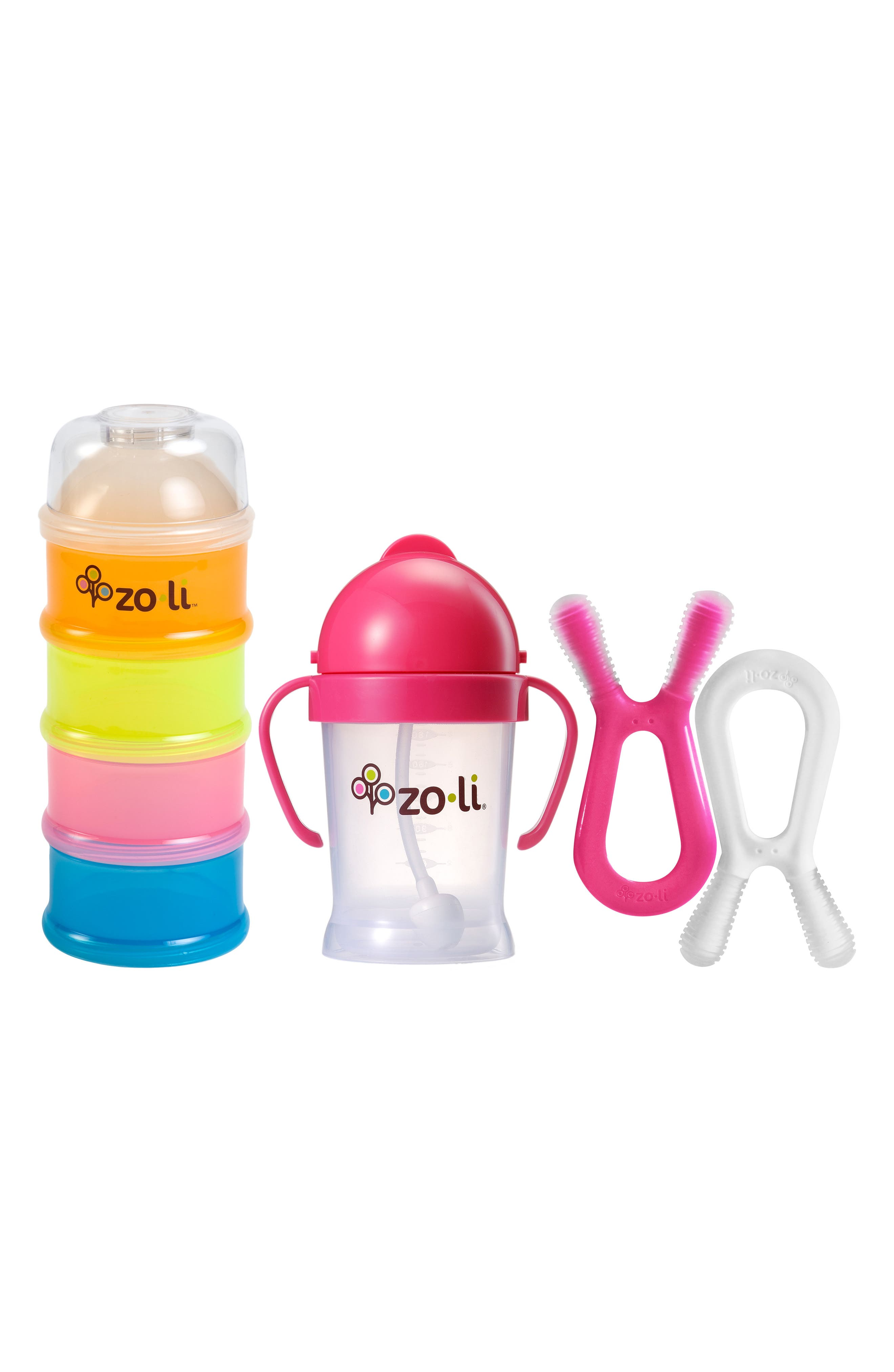 Baby on the Go Essentials 5-Piece Set,                         Main,                         color, Pink/ Pink White