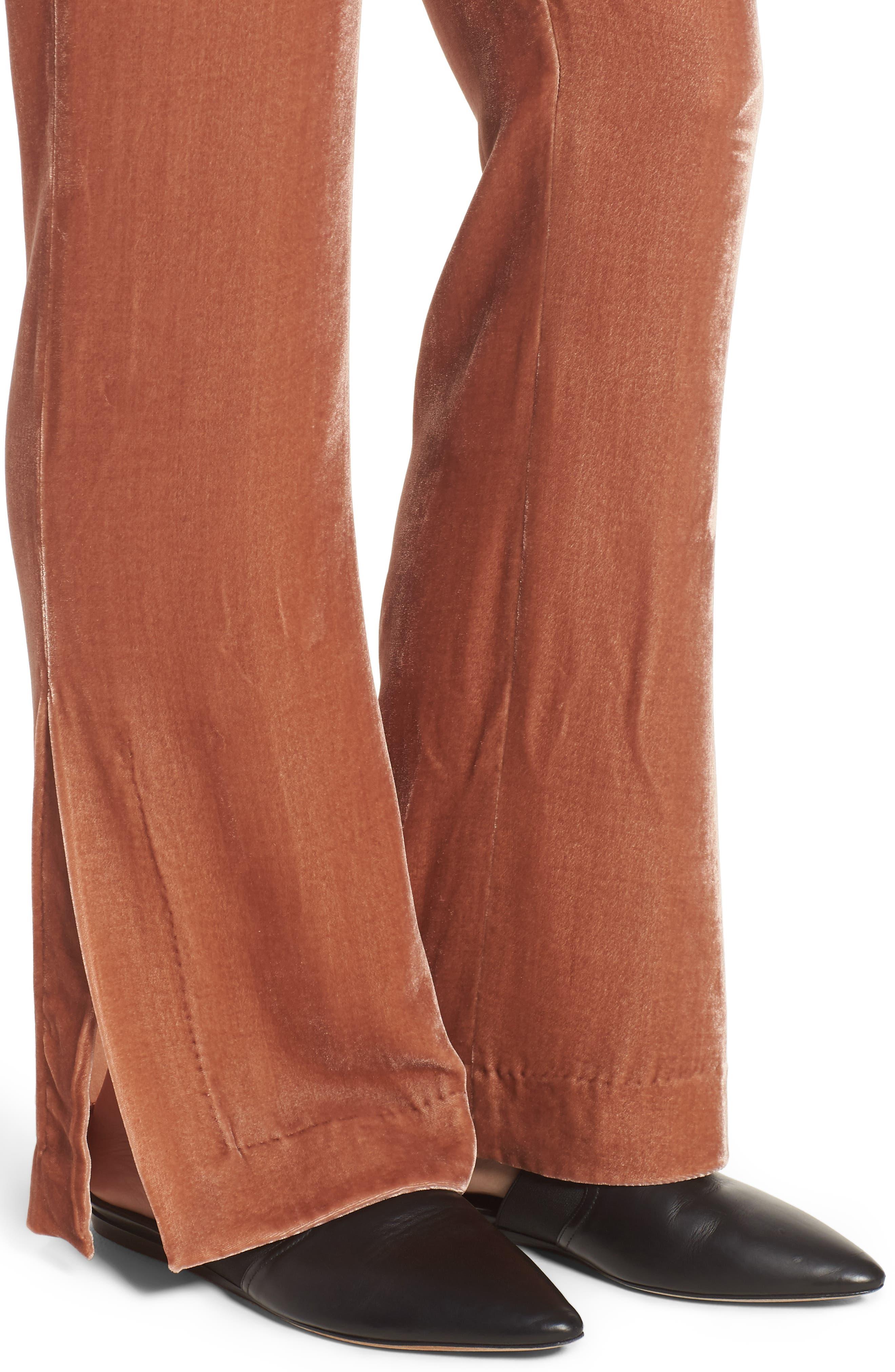 Bushwick Velvet Pants,                             Alternate thumbnail 4, color,                             Brown
