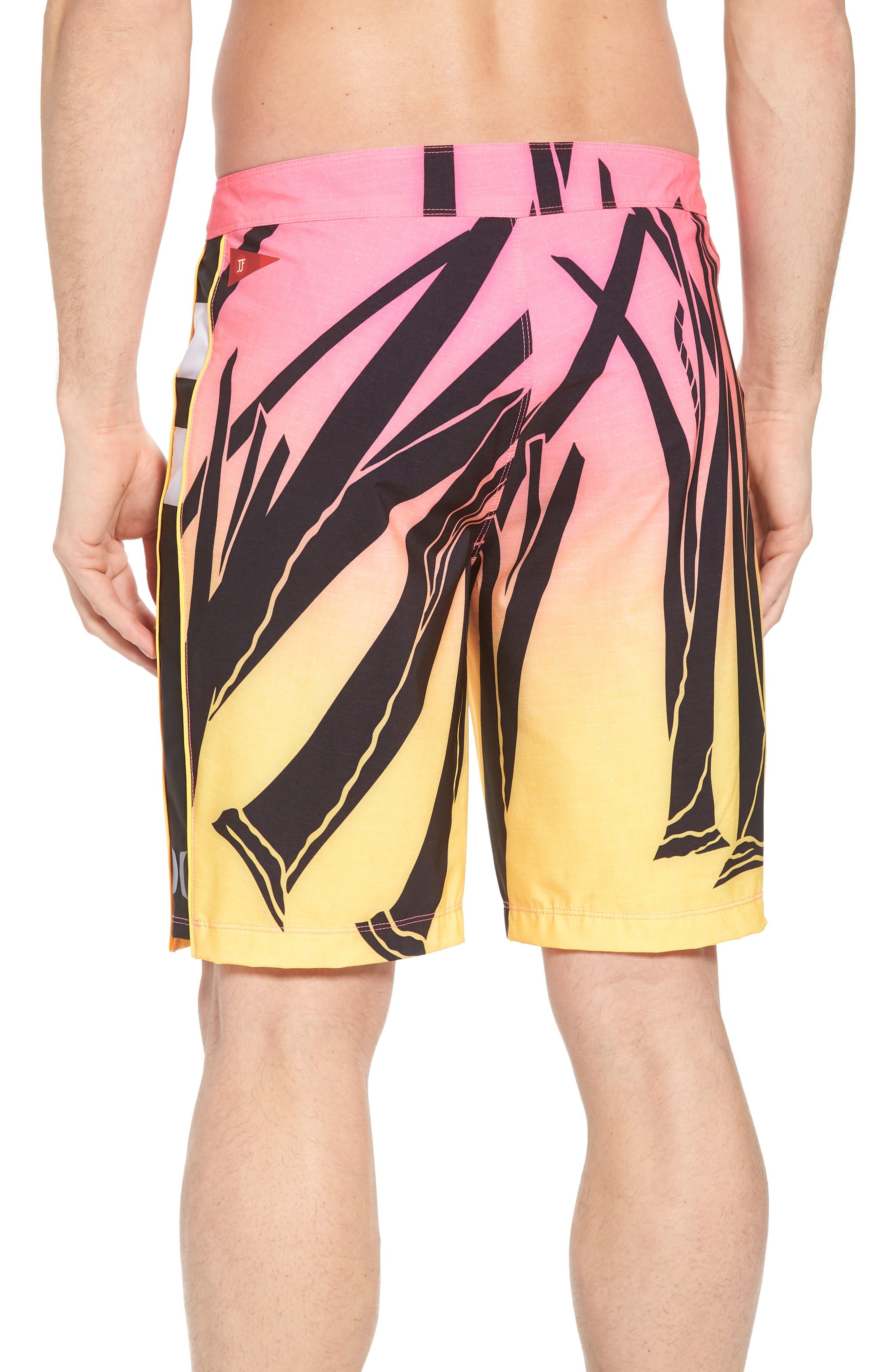 JJF IV Kahuliwae Board Shorts,                             Alternate thumbnail 2, color,                             Hyper Pink