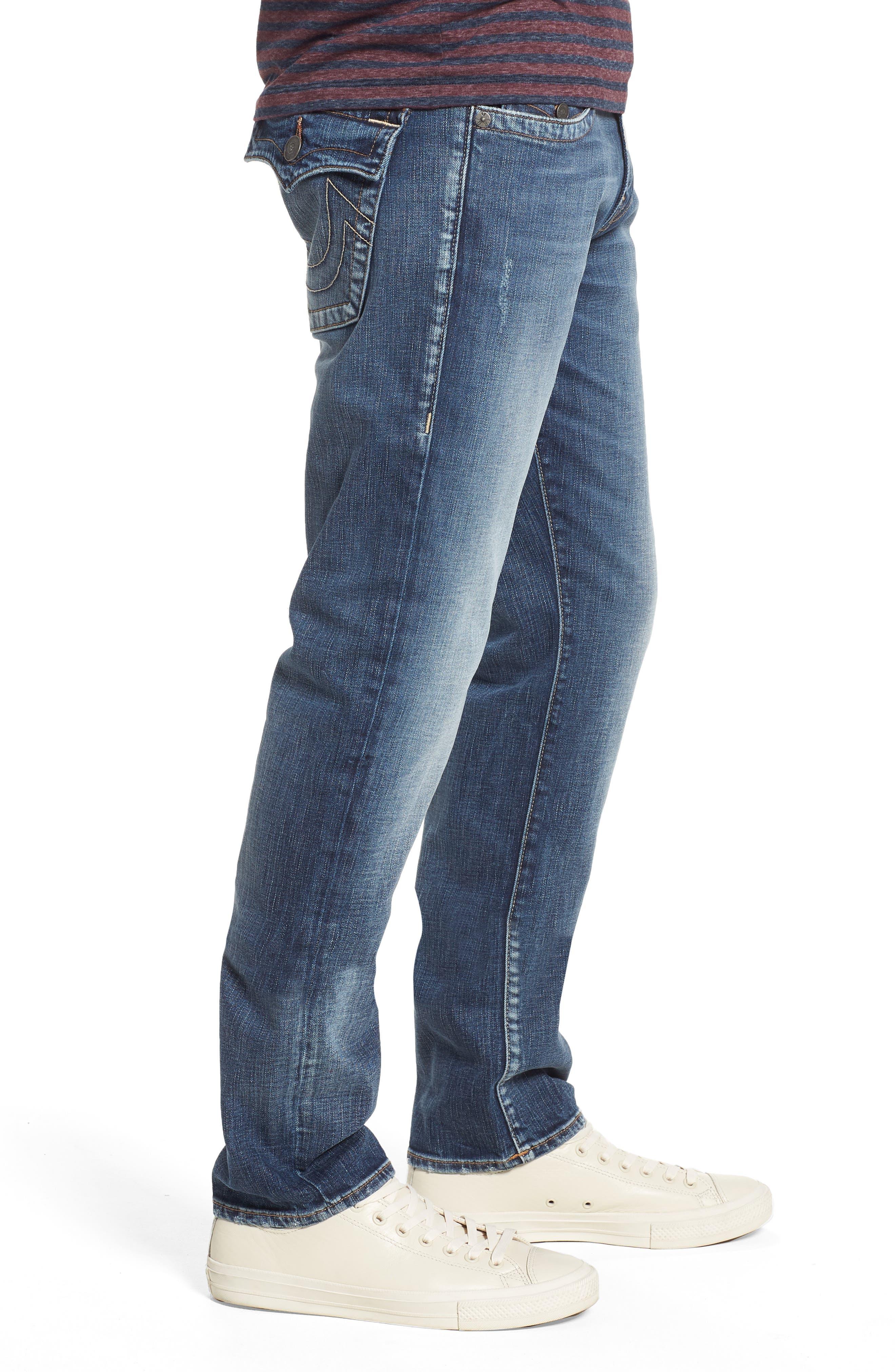 Geno Straight Leg Jeans,                             Alternate thumbnail 3, color,                             Morning Haze