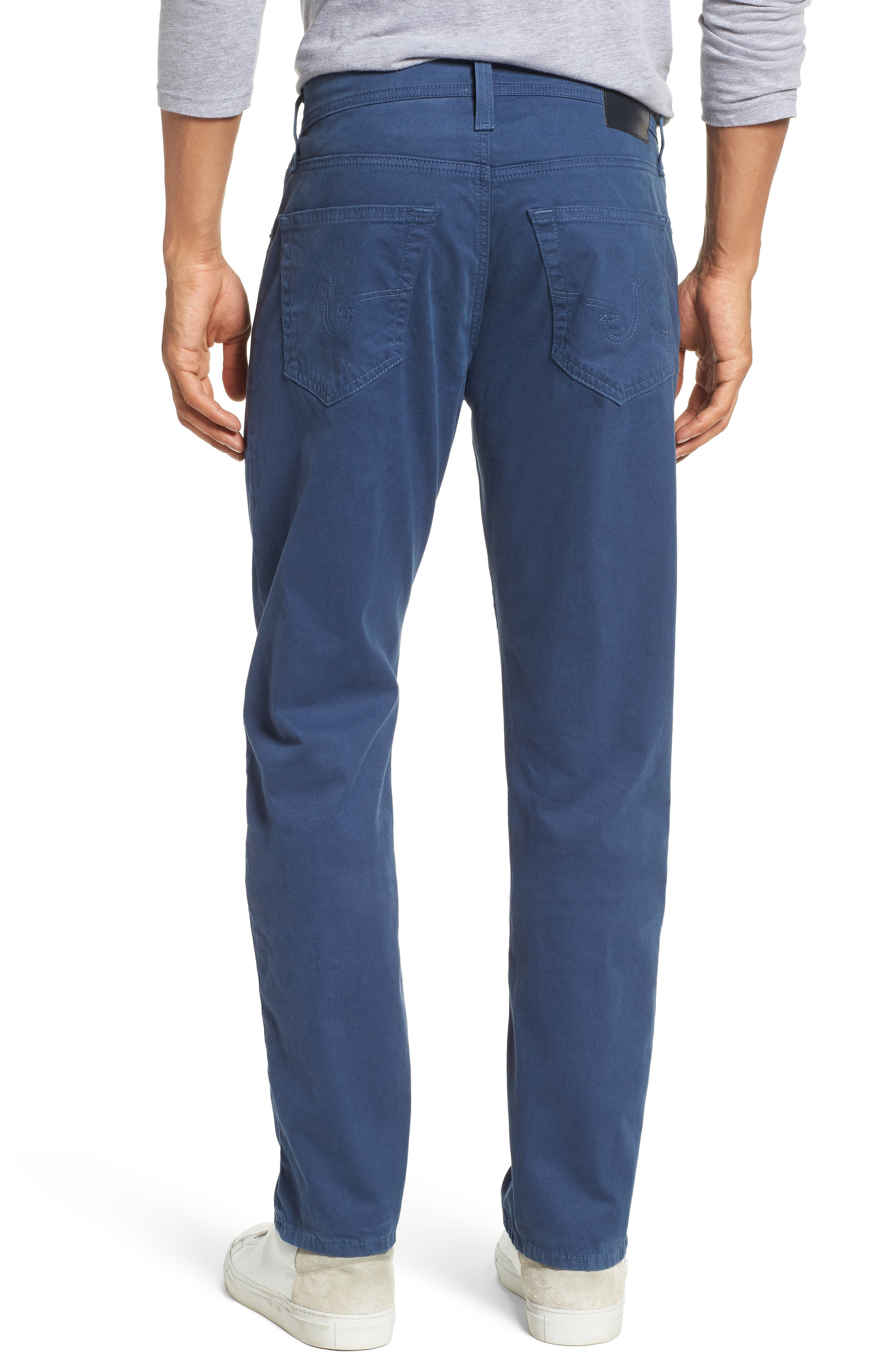 Alternate Image 2  - AG Herringbone Everett SUD Straight Leg Pants