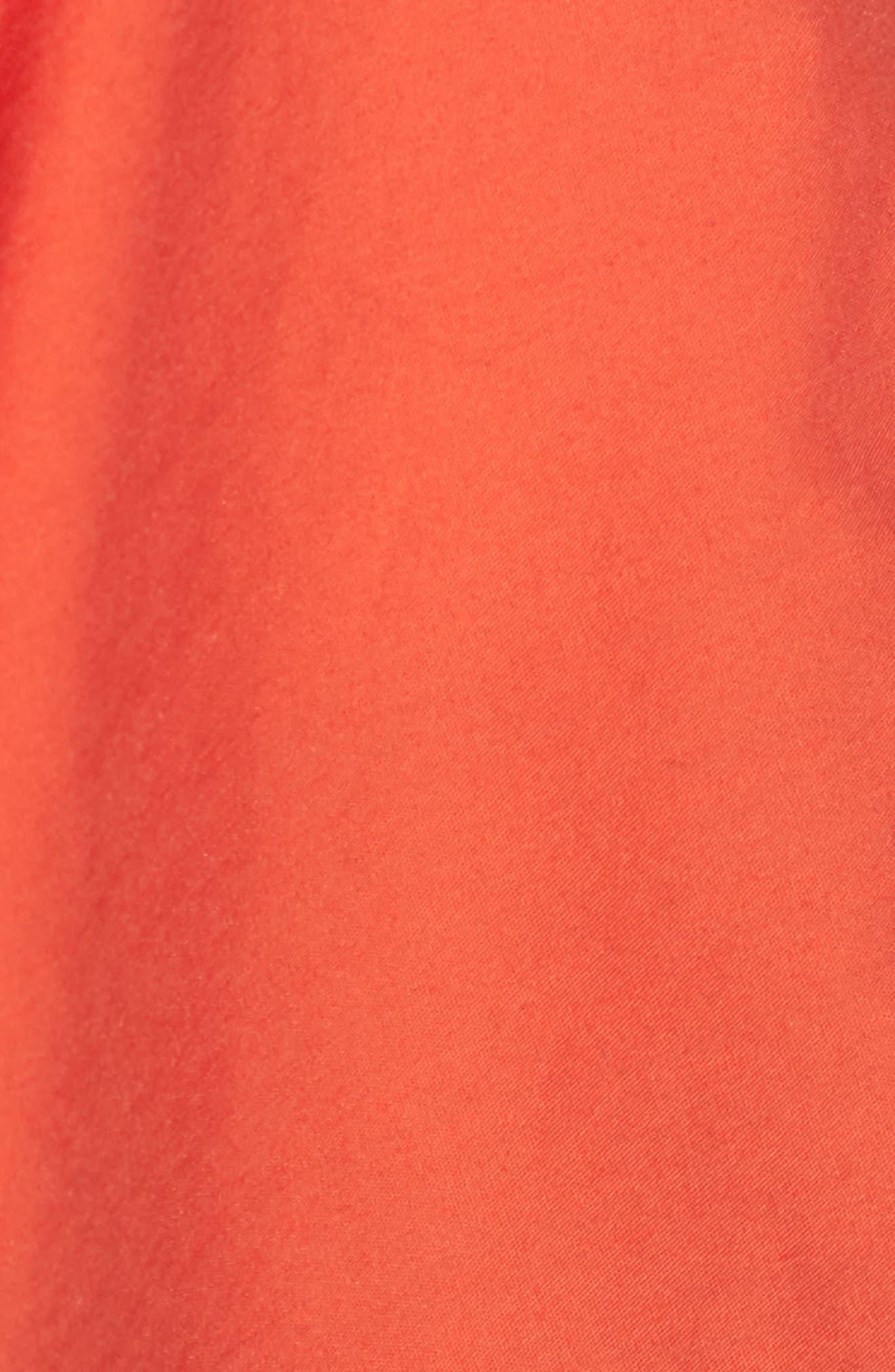 Smocked Off the Shoulder Top,                             Alternate thumbnail 6, color,                             Burnt Orange