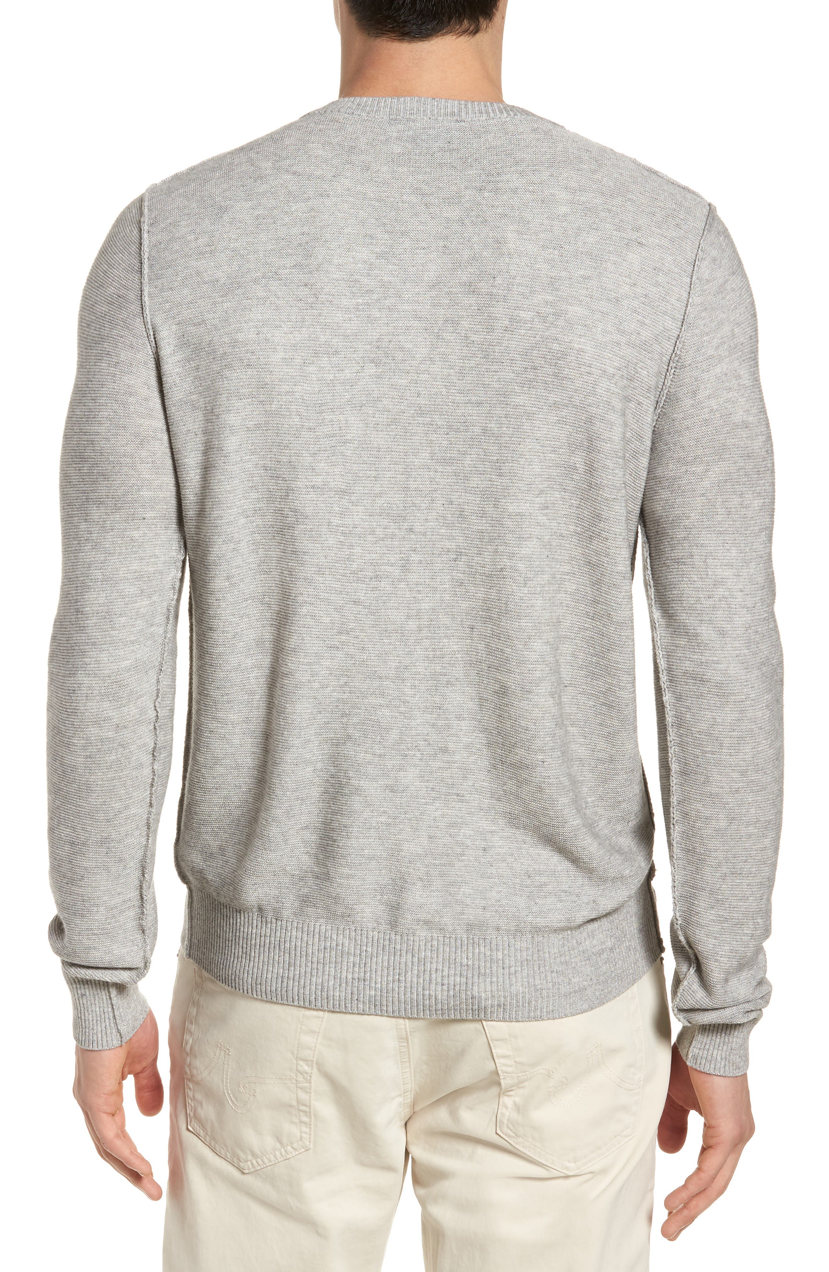 Tailored Fit Henley,                             Alternate thumbnail 2, color,                             Light Grey