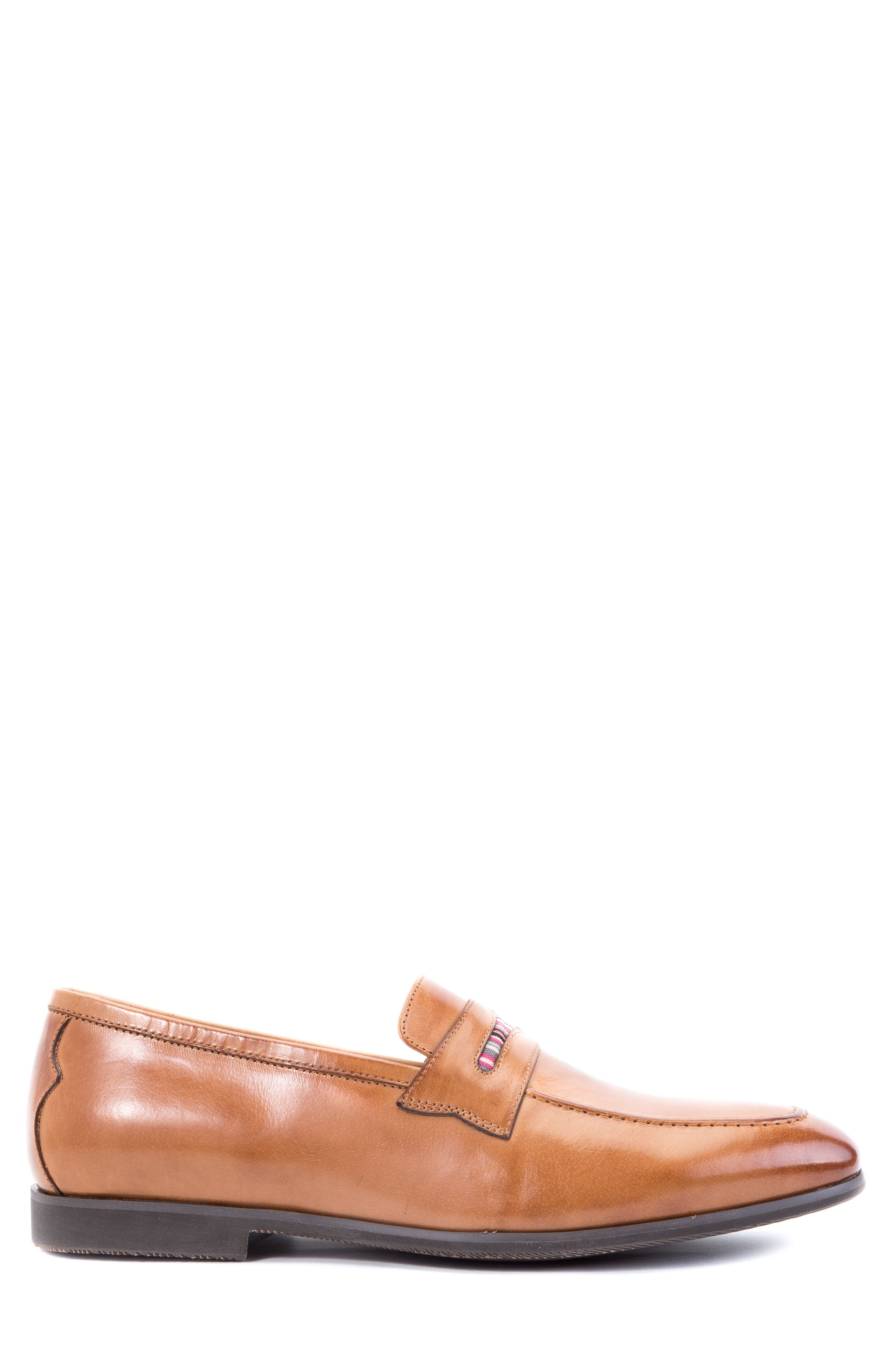 Hugo Penny Loafer,                             Alternate thumbnail 3, color,                             Cognac Leather