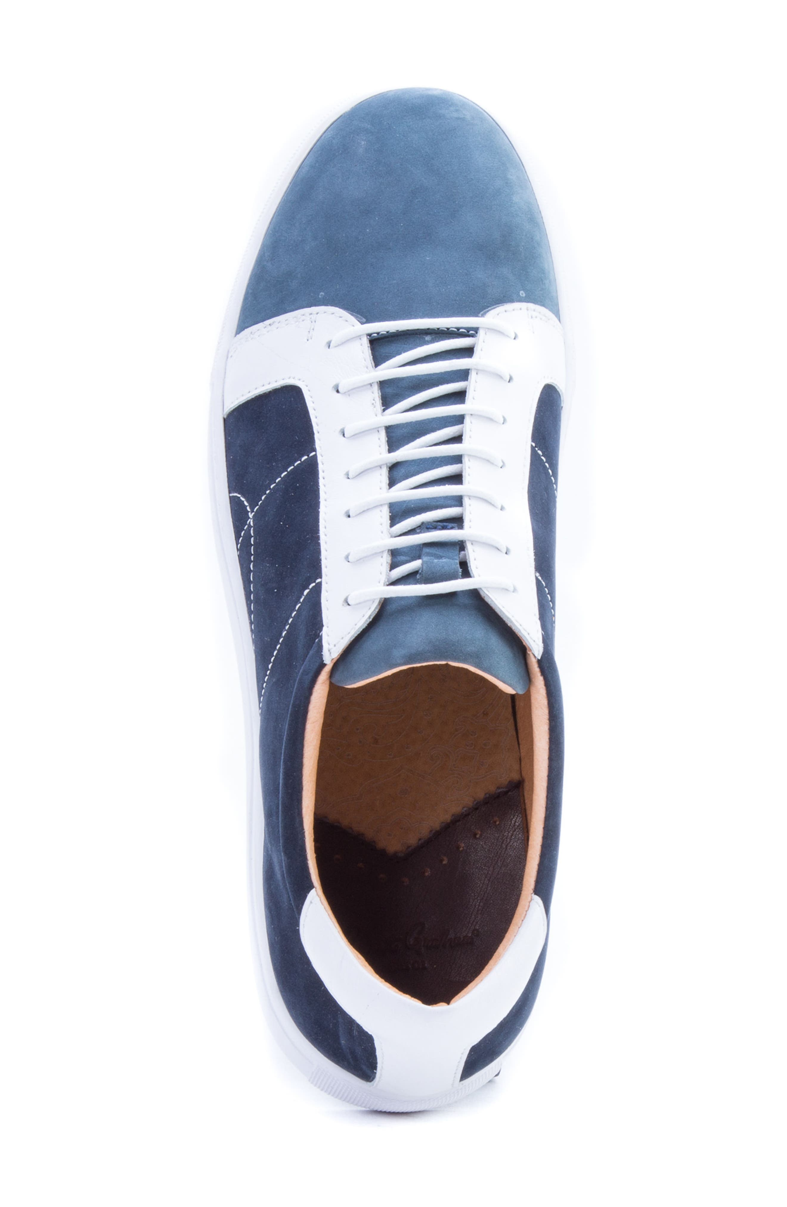 Gonzalo Low Top Sneaker,                             Alternate thumbnail 5, color,                             Navy Suede