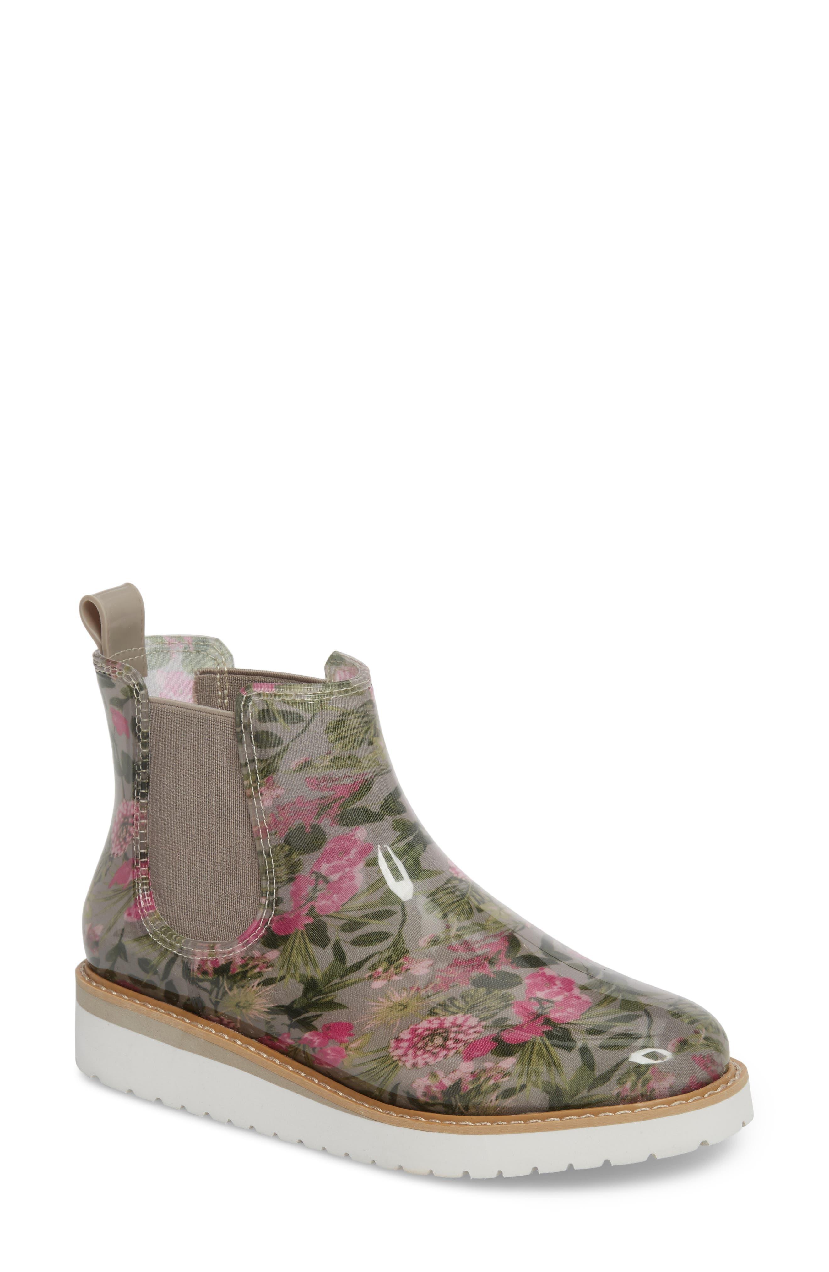 Kensington Chelsea Rain Boot,                             Main thumbnail 1, color,                             Tropical Floral