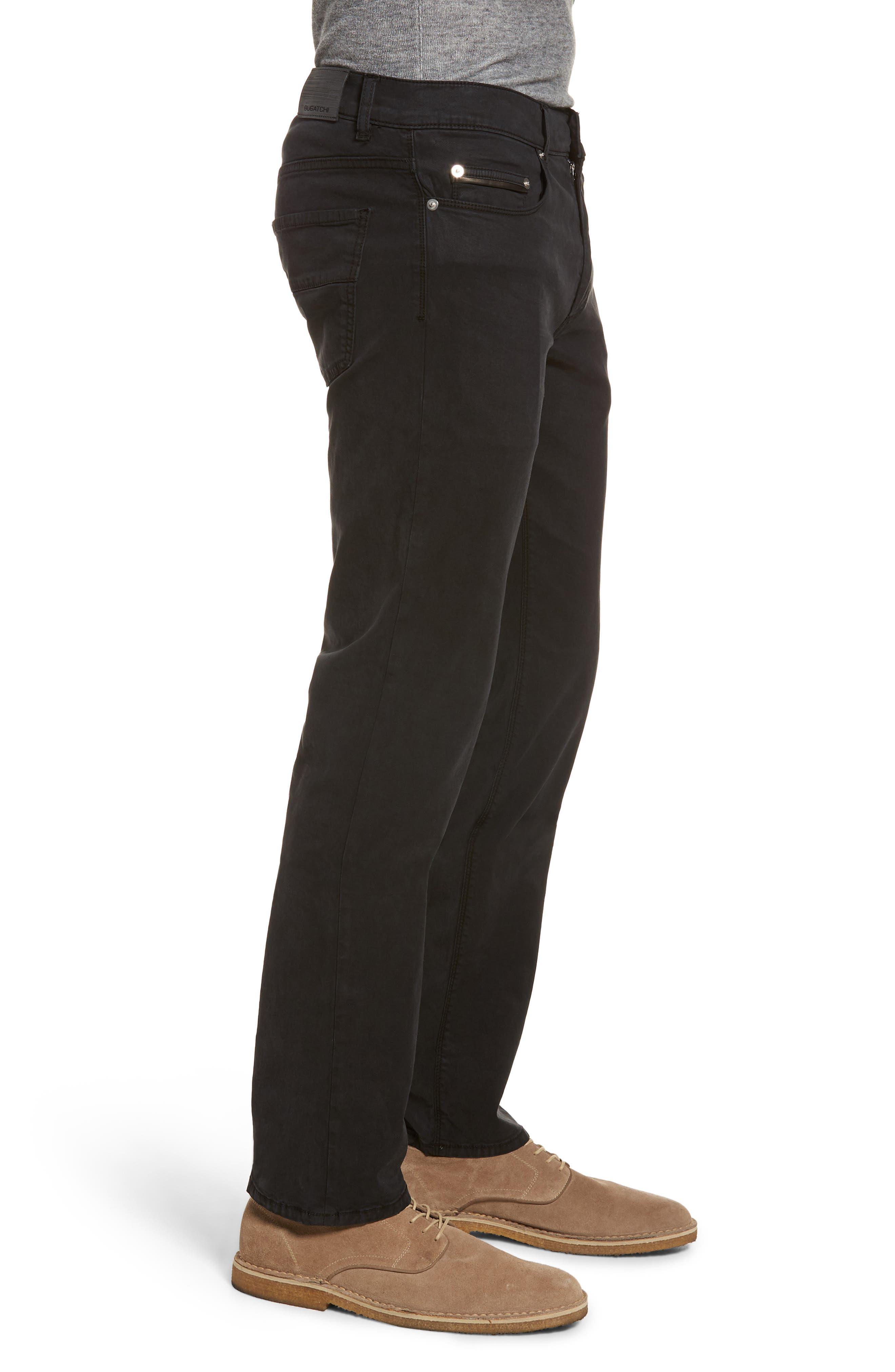 Slim Fit Washed Five-Pocket Pants,                             Alternate thumbnail 3, color,                             Black