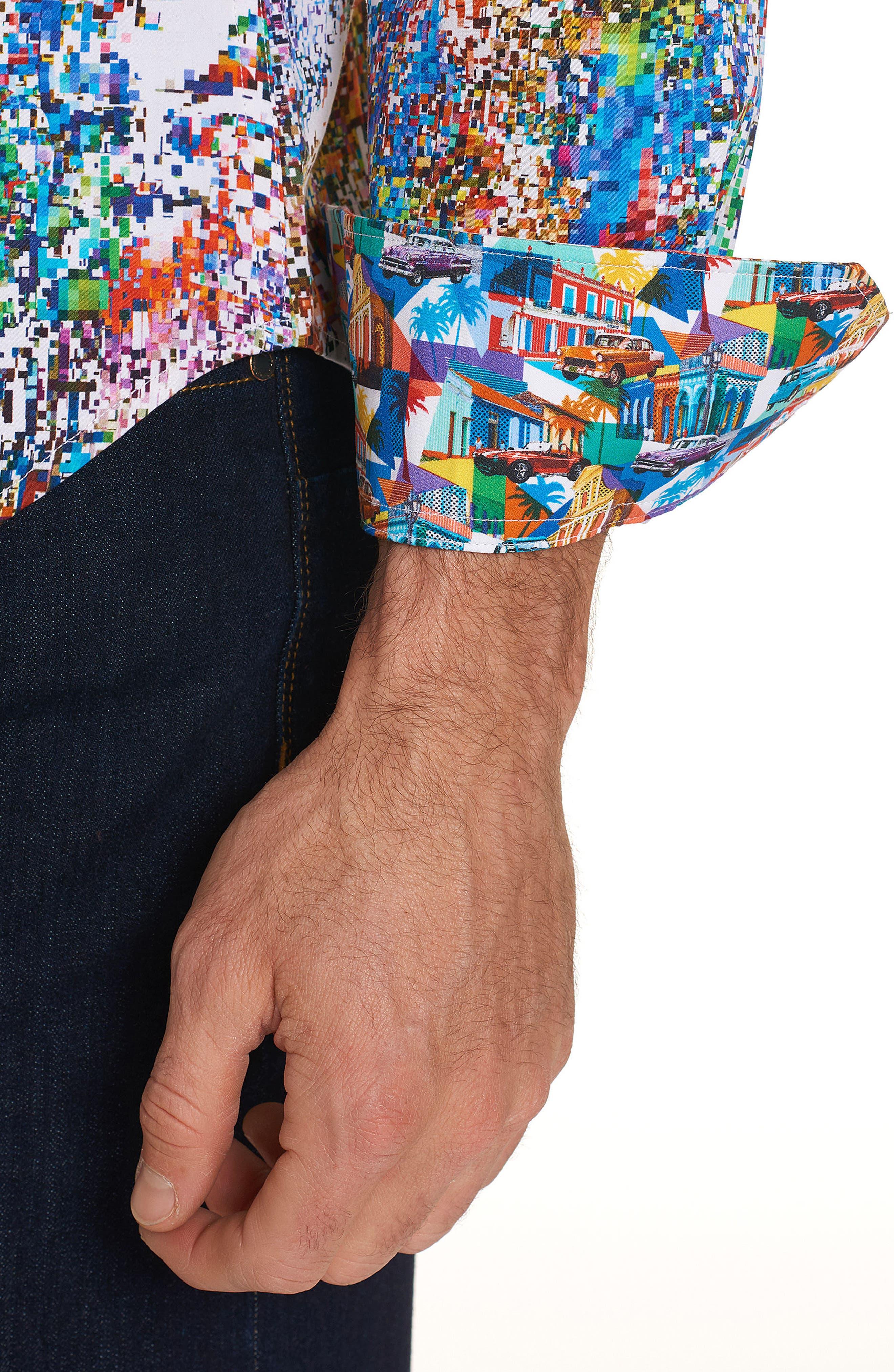 Splash Classic Fit Sport Shirt,                             Alternate thumbnail 3, color,                             Multi