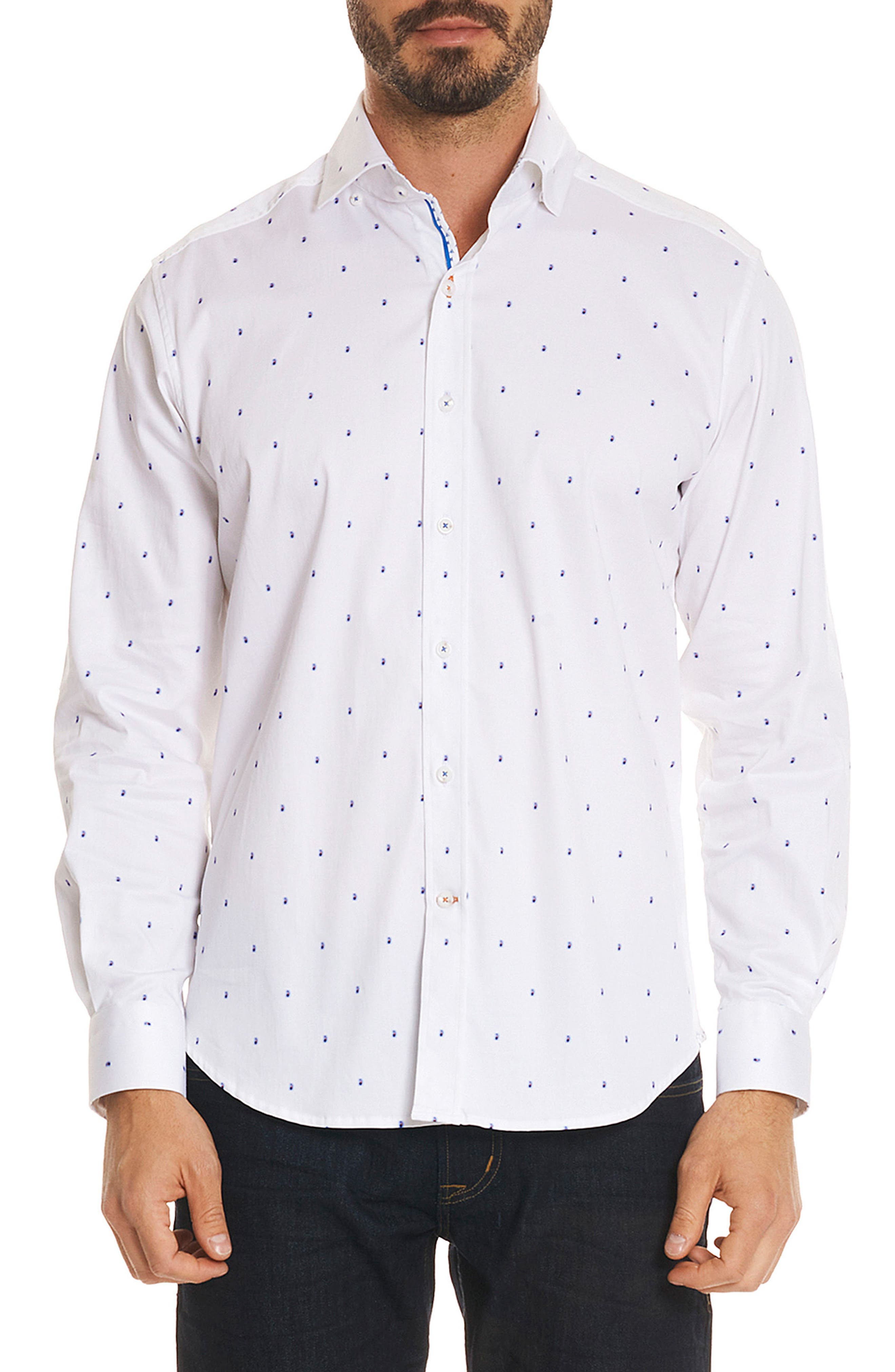 Mack Tailored Fit Sport Shirt,                         Main,                         color, White