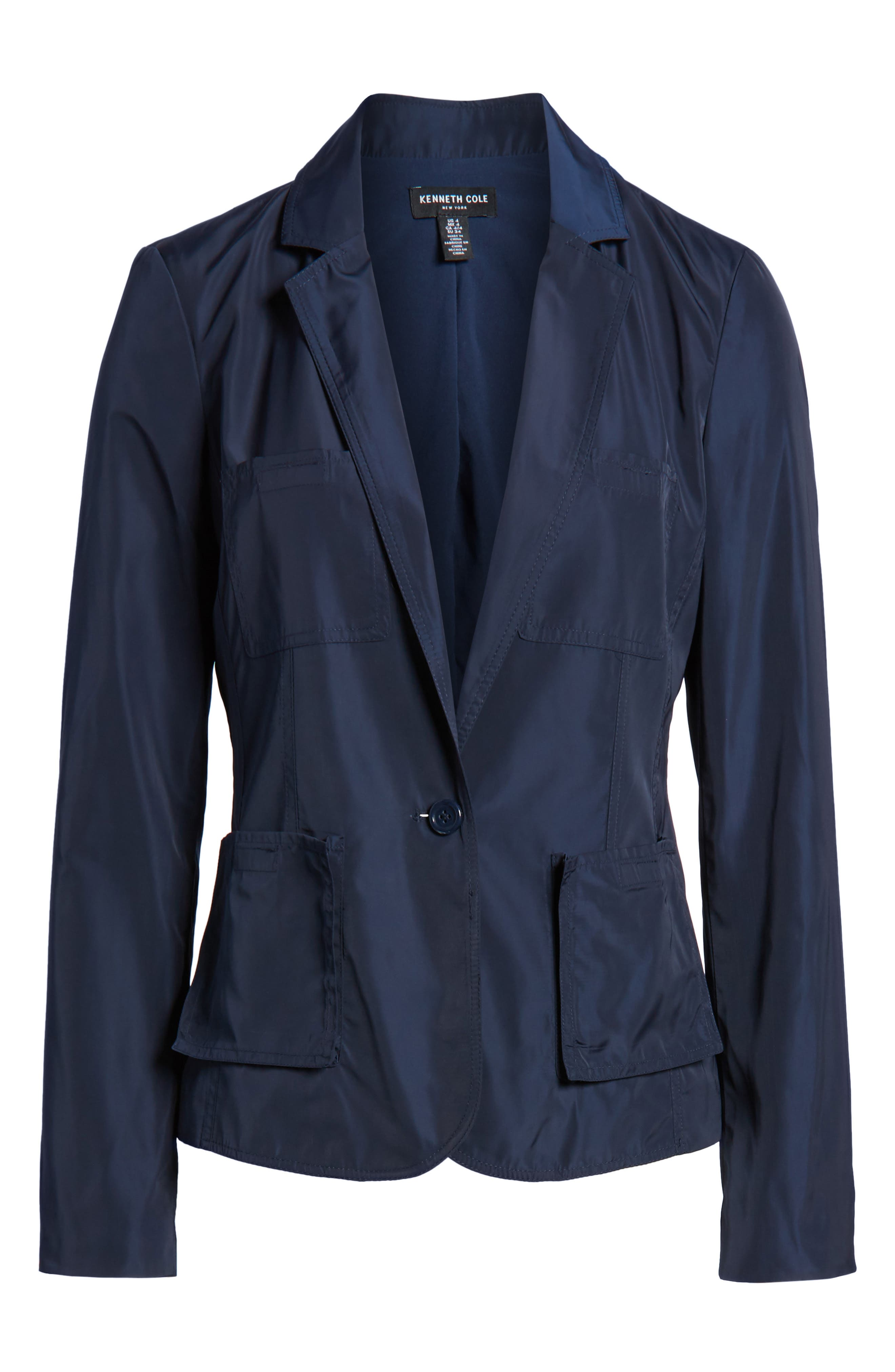 Two-Button Blazer,                             Alternate thumbnail 7, color,                             Indigo
