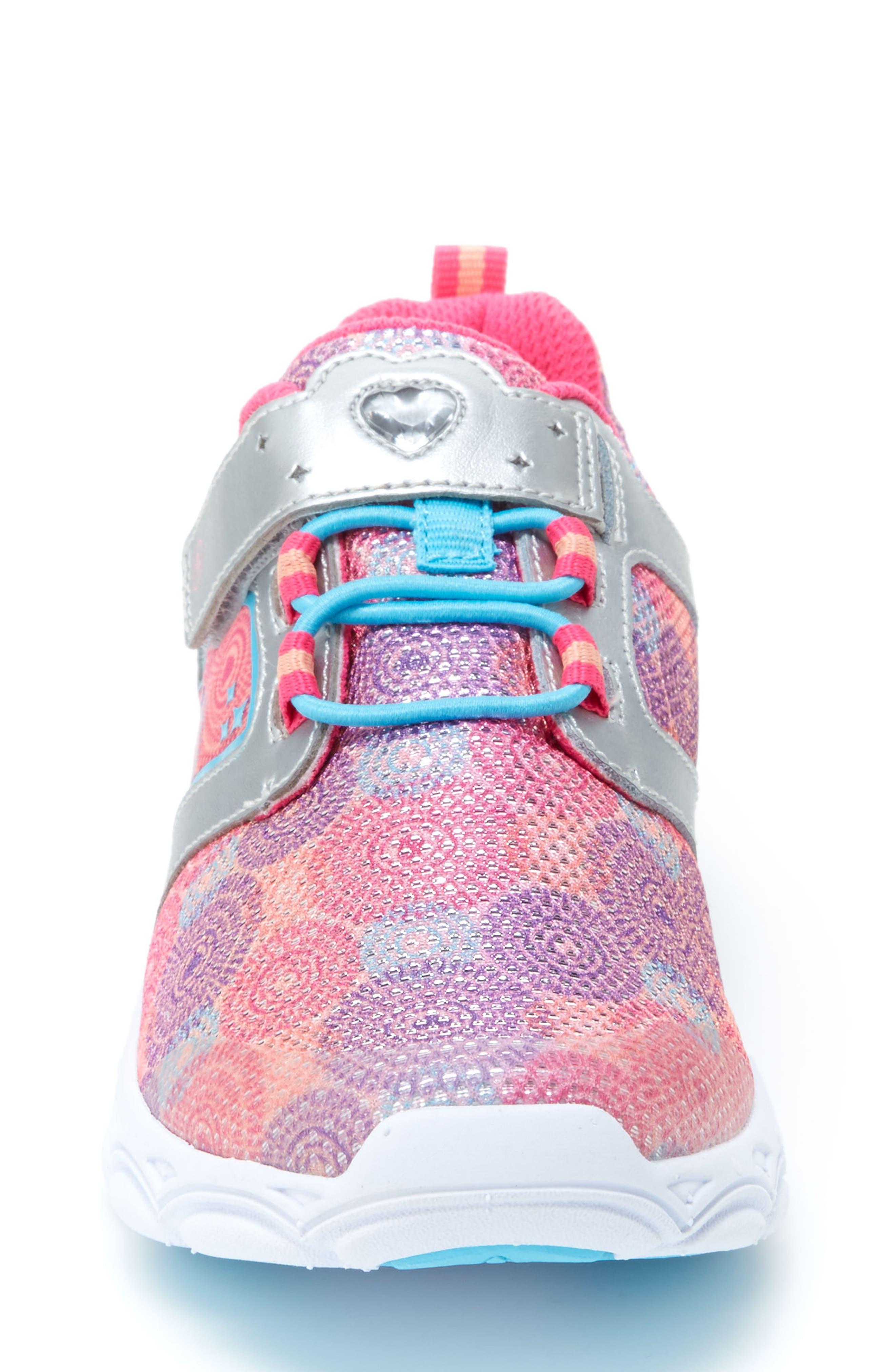 Lights Lively Light-Up Sneaker,                             Alternate thumbnail 3, color,                             Rainbow