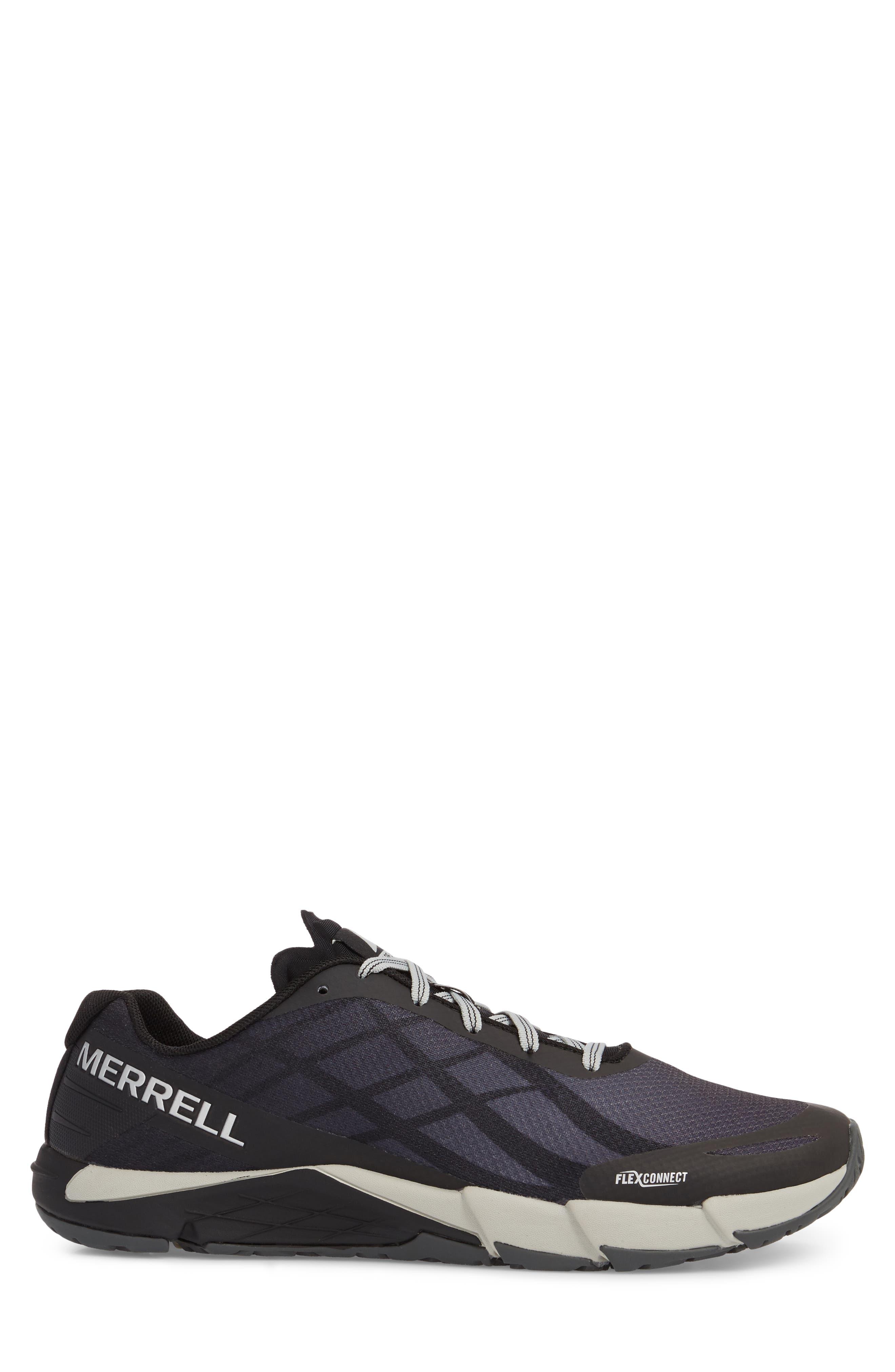 Bare Access Flex Running Shoe,                             Alternate thumbnail 3, color,                             Black/ Silver