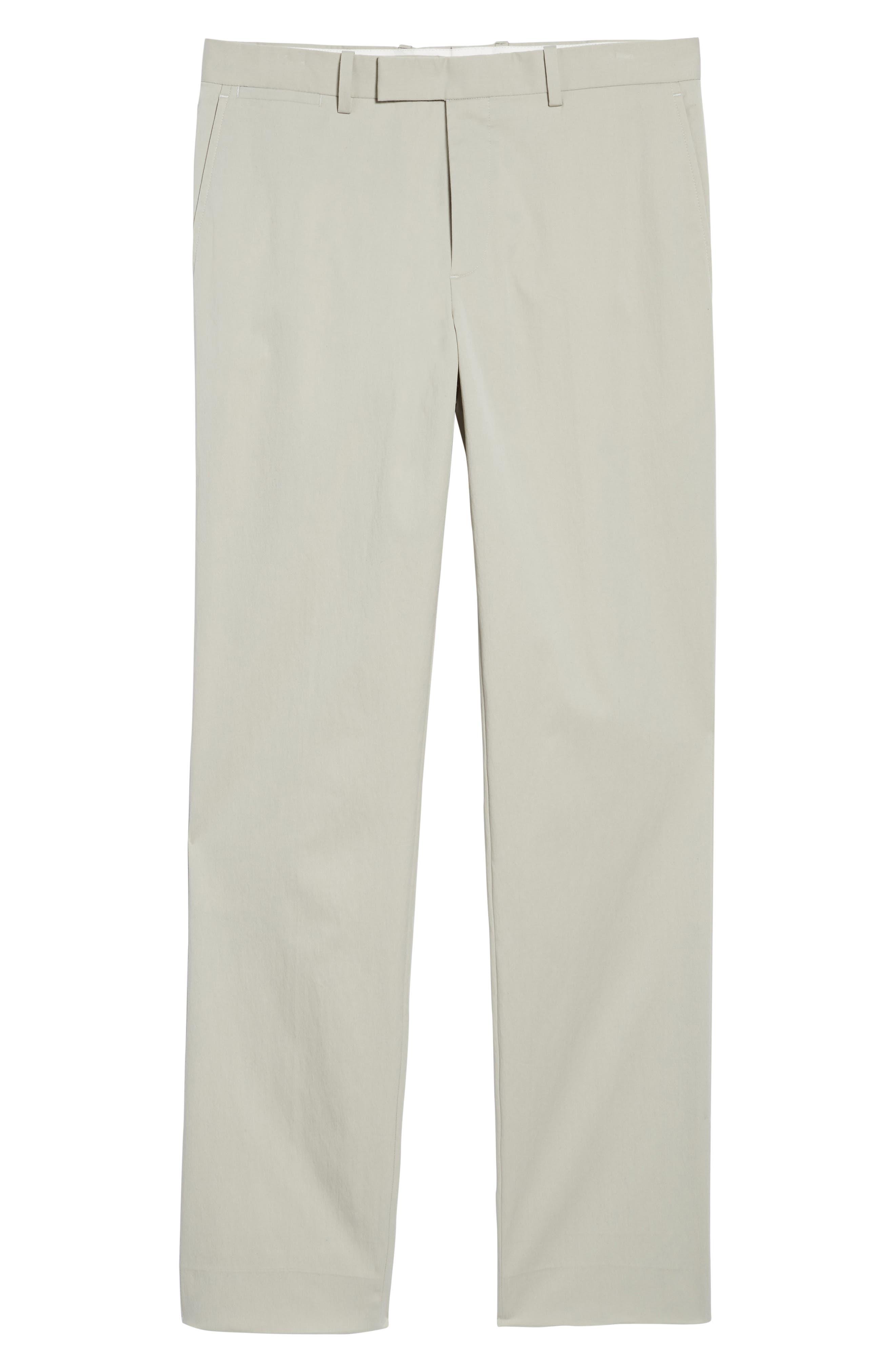 Zaine Technical Flat Front Stretch Pants,                             Alternate thumbnail 6, color,                             Ash