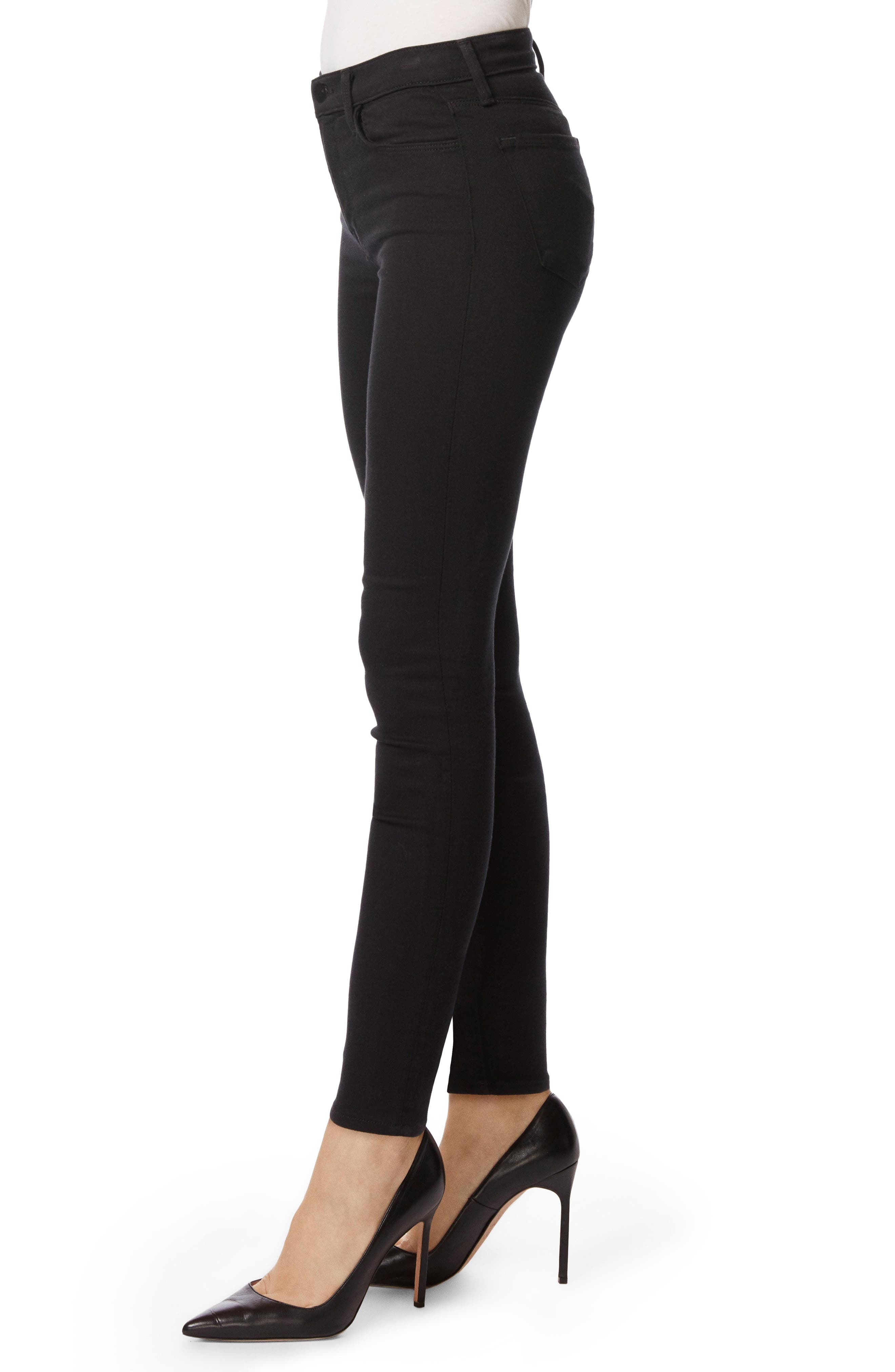 Alternate Image 3  - J Brand Maria High Waist Super Skinny Jeans (Seriously Black)