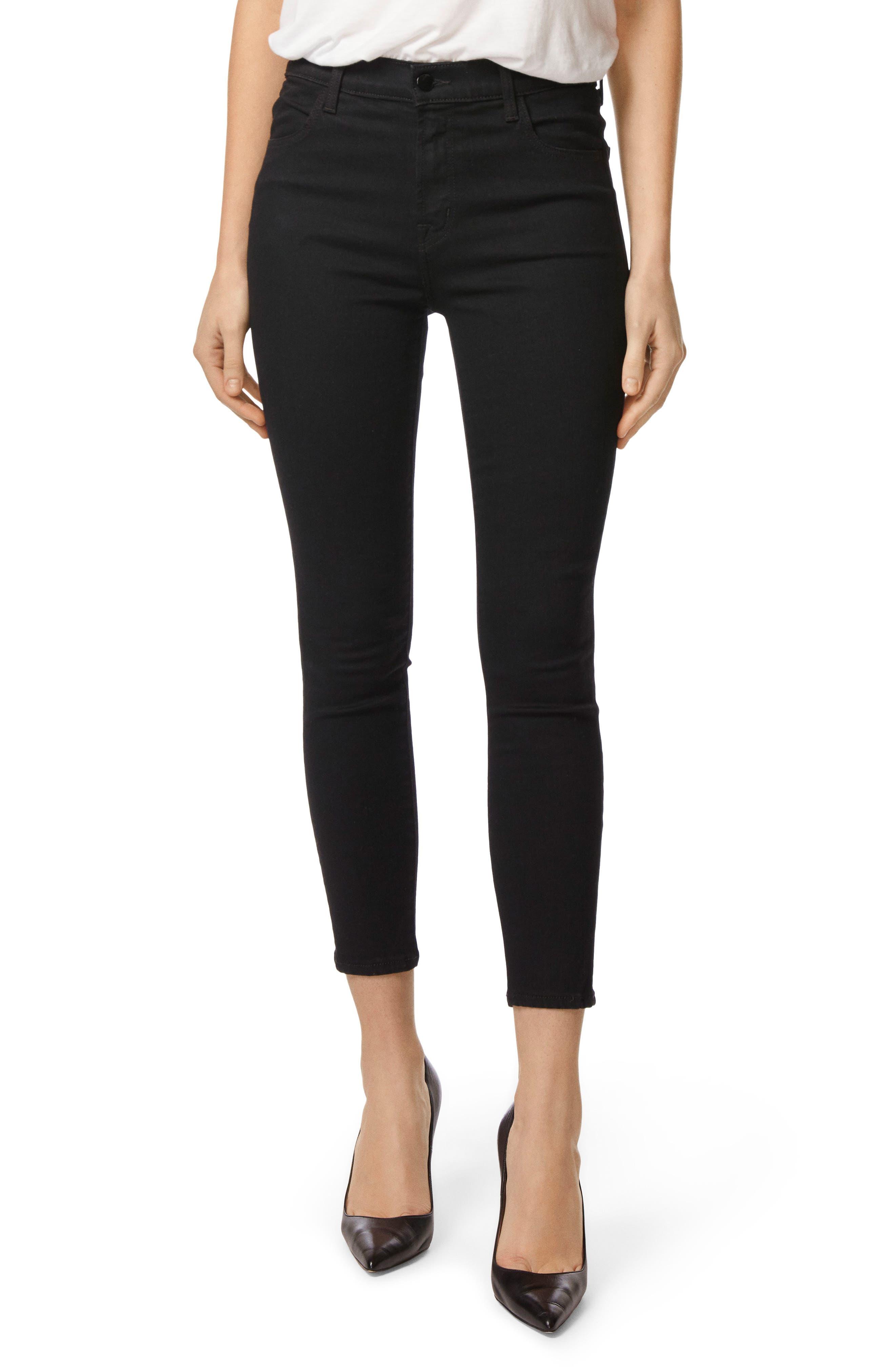 Main Image - J Brand Alana High Waist Crop Skinny Jeans (Vanity)
