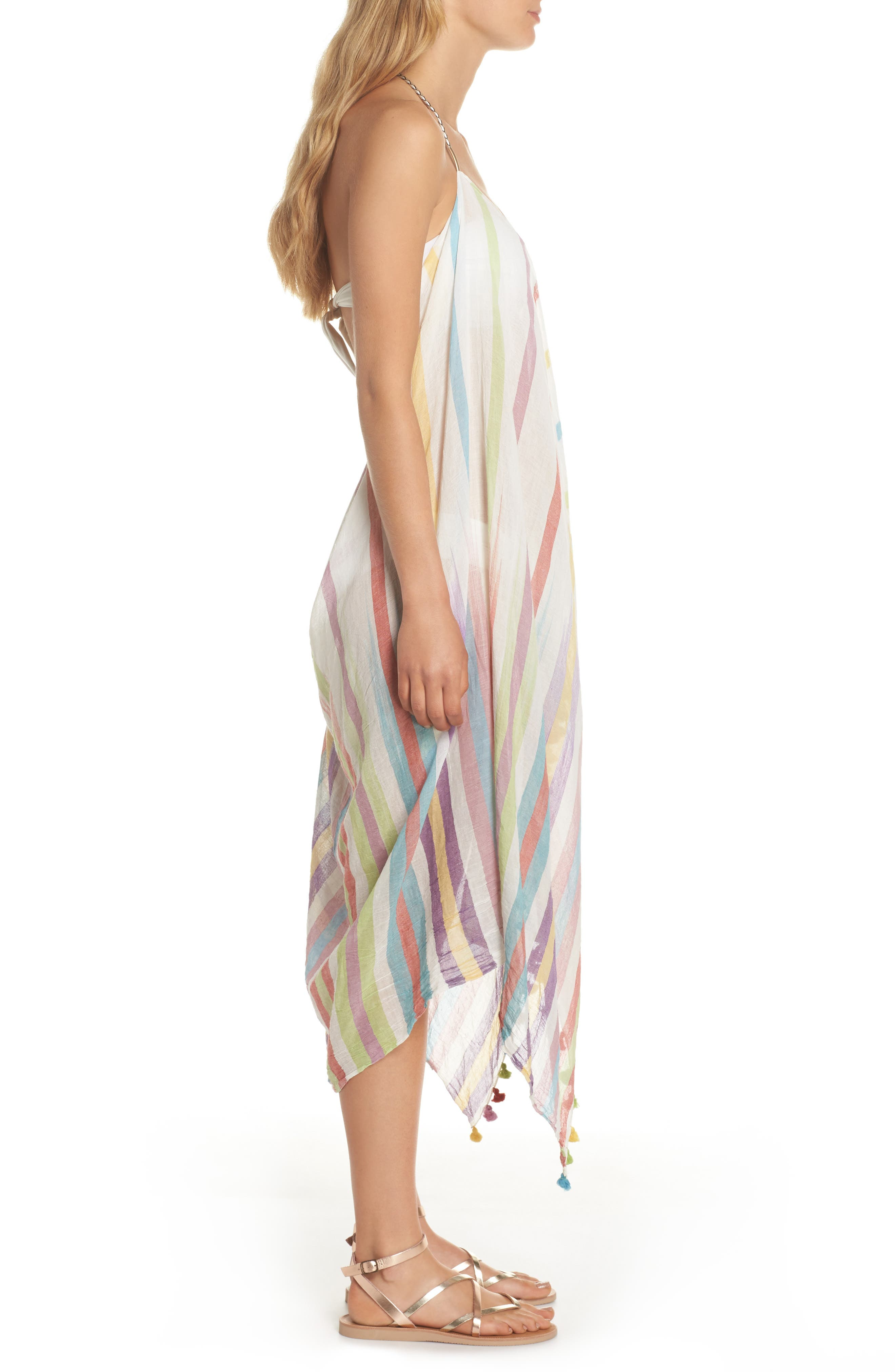 Pool Party Beach to Street Cover-Up Dress,                             Alternate thumbnail 3, color,                             Rnb