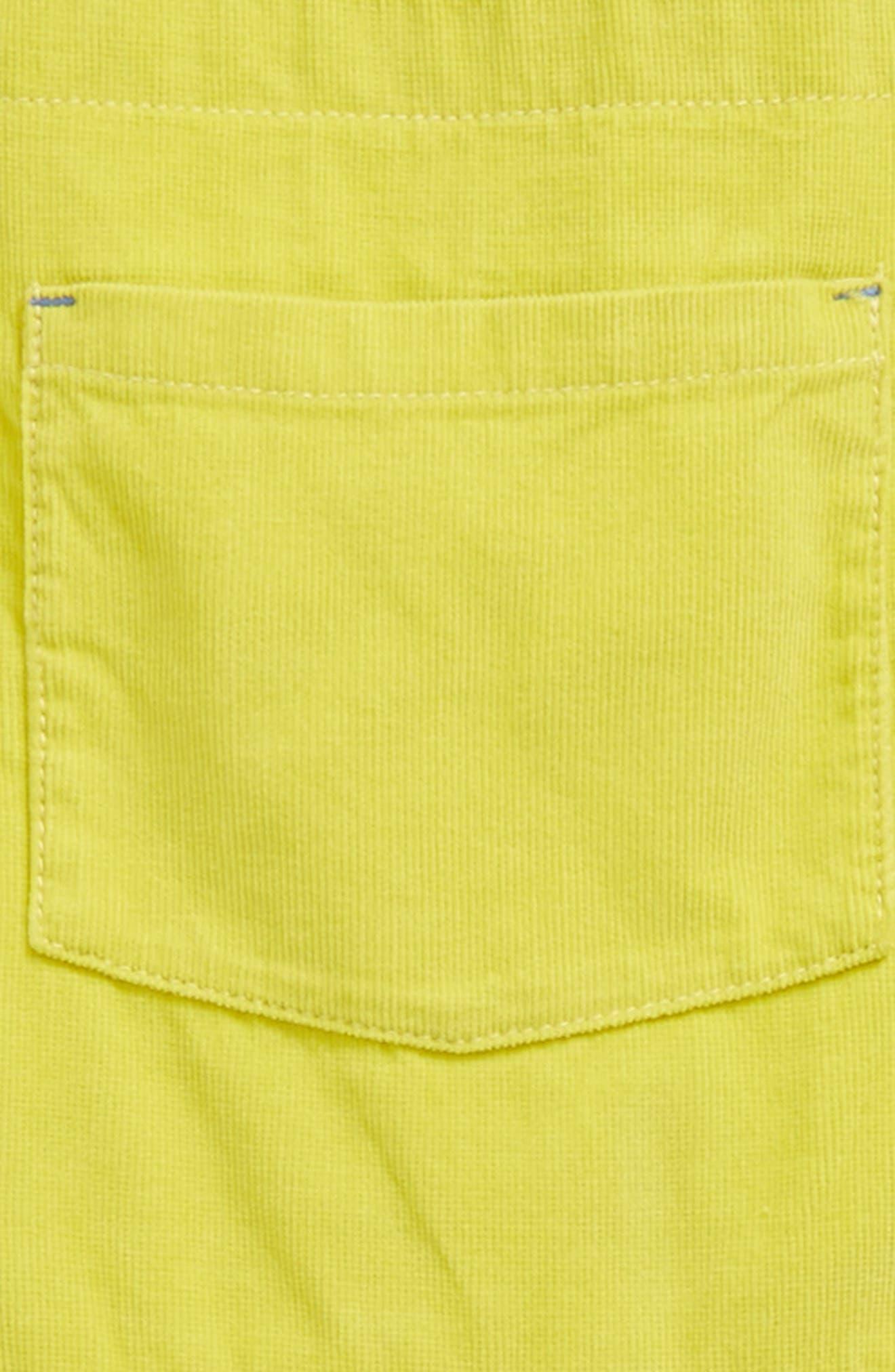 Corduroy Dress,                             Alternate thumbnail 3, color,                             Zest Yellow