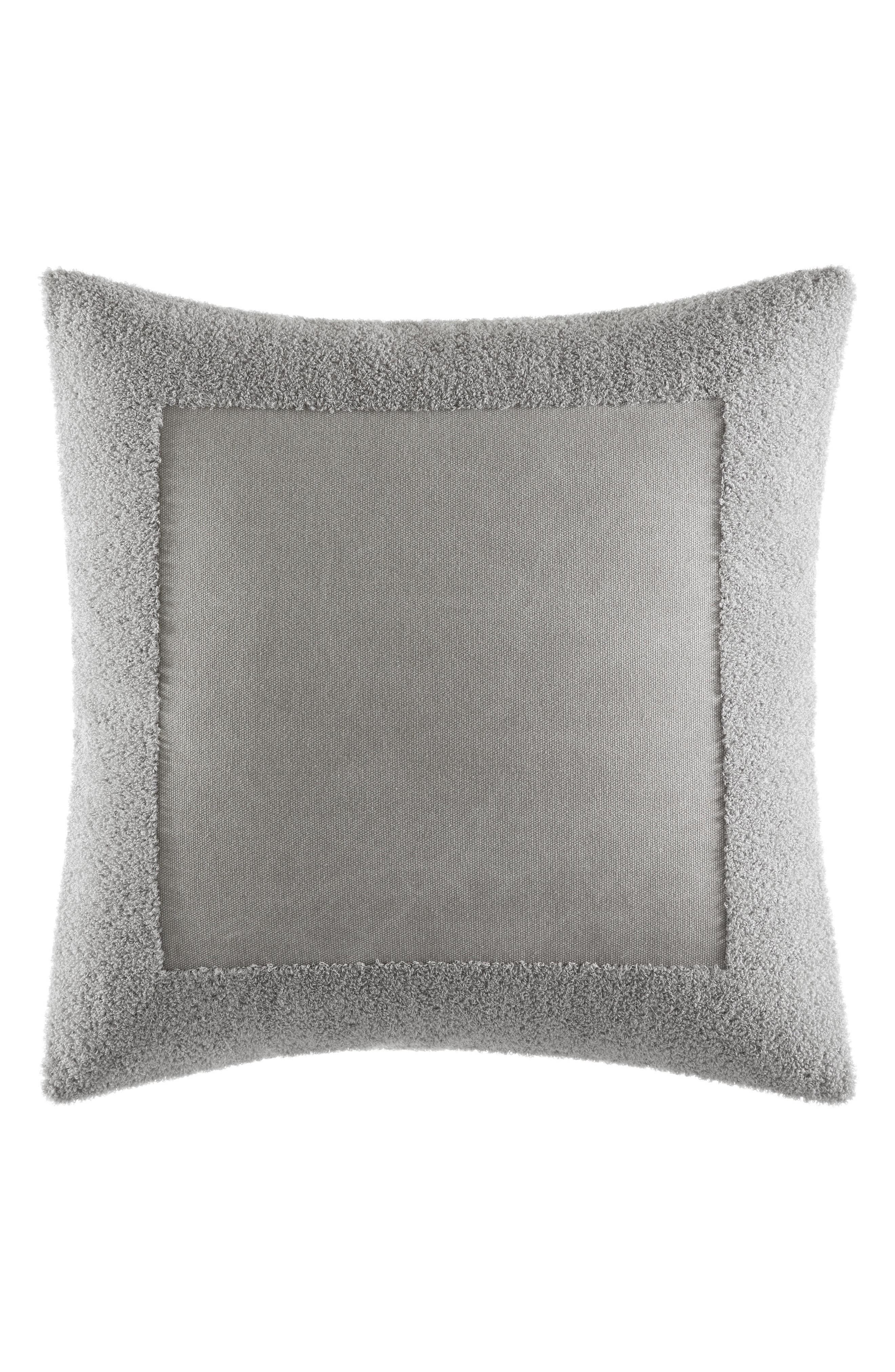 Transparent Leaves Accent Pillow,                         Main,                         color, Medium Gray