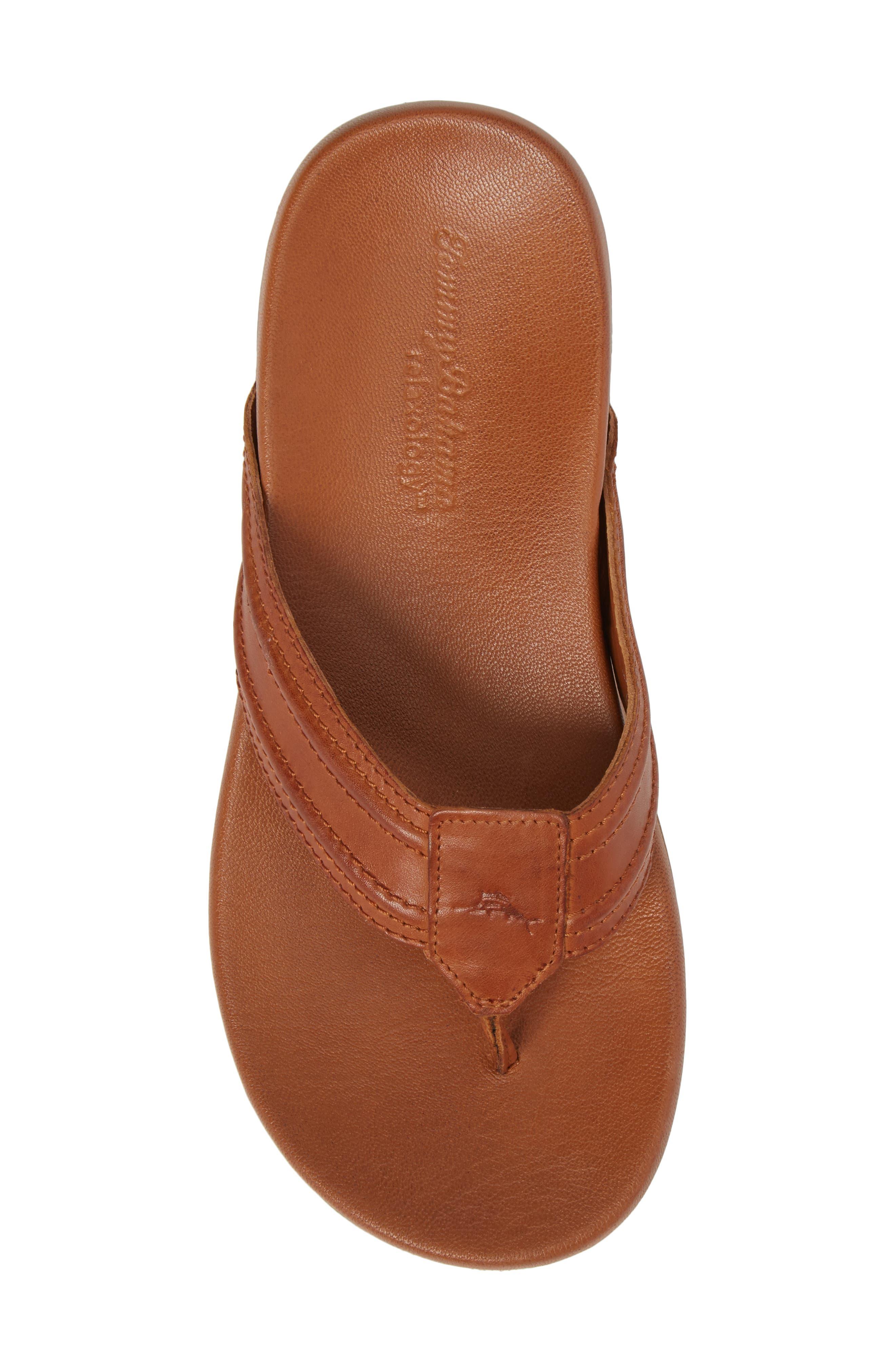 Mayaguana Flip Flop,                             Alternate thumbnail 5, color,                             Tan Leather