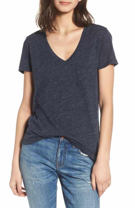 31550256a Madewell Whisper Cotton V-Neck Pocket Tee (Regular   Plus Size)