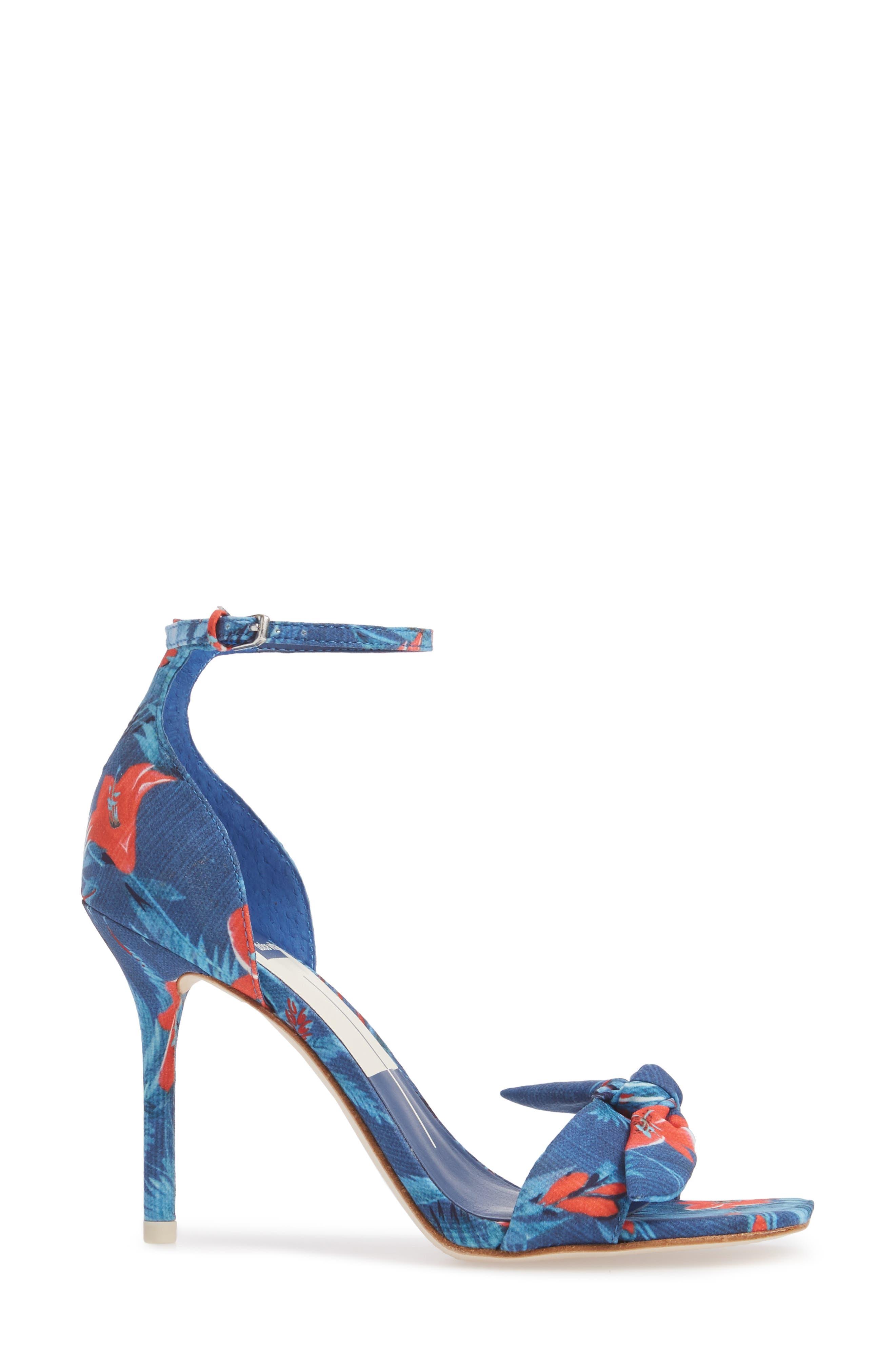 Helana Knotted Sandal,                             Alternate thumbnail 3, color,                             Blue Multi