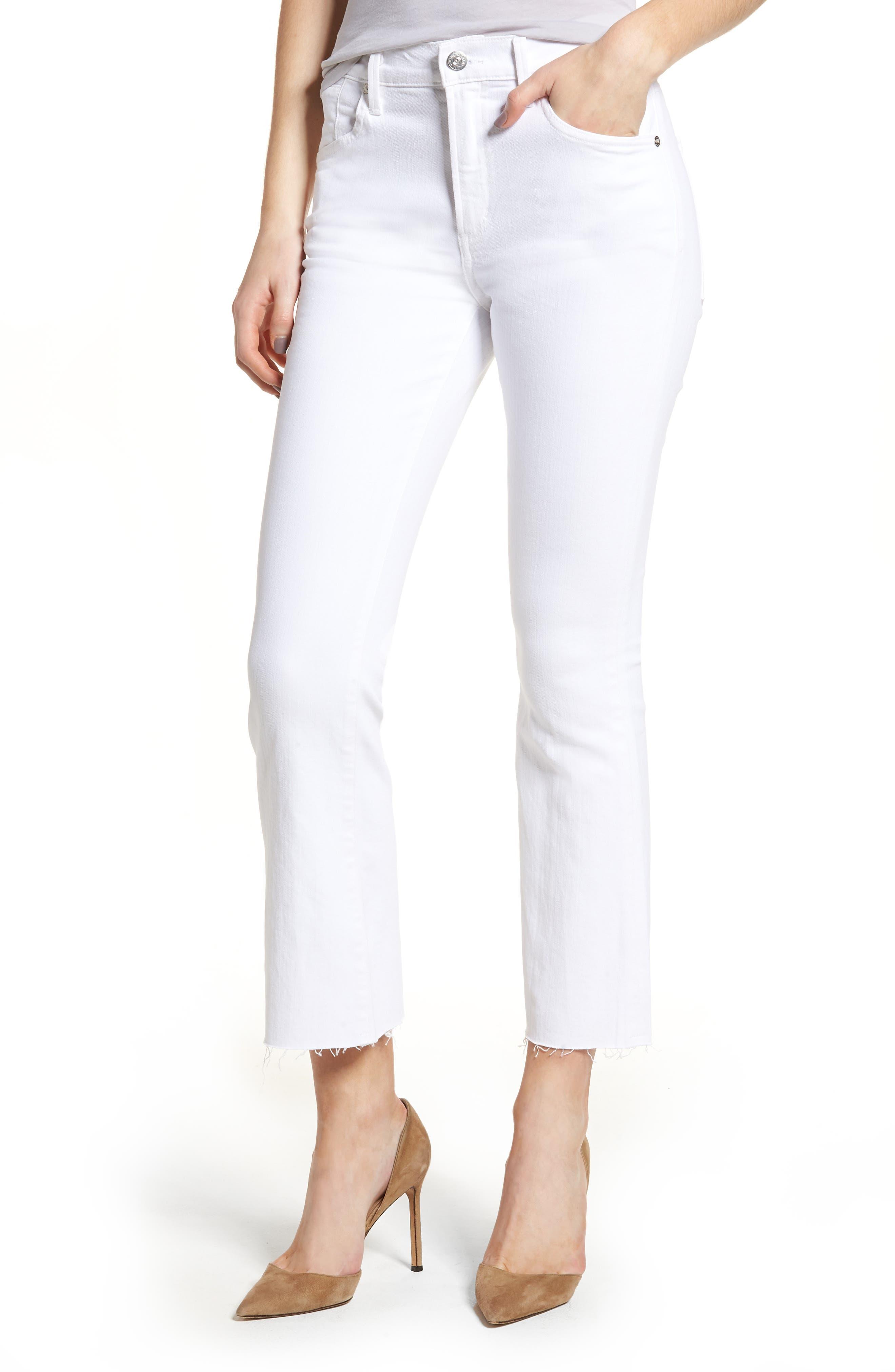 Fleetwood Crop Straight Leg Jeans,                         Main,                         color, Optic White