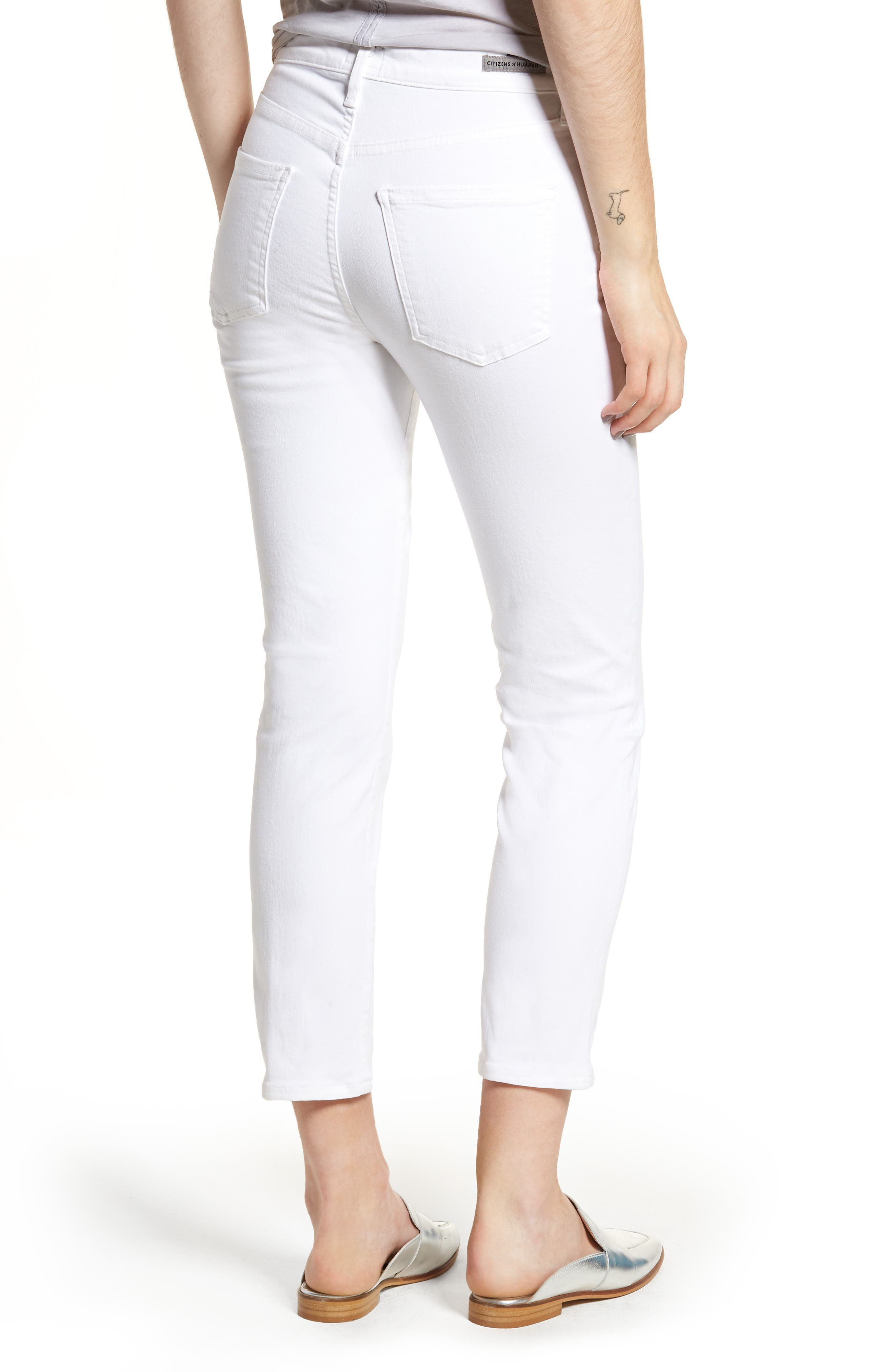 Alternate Image 2  - Citizens of Humanity Cara Ankle Cigarette Jeans (Sculpt White)