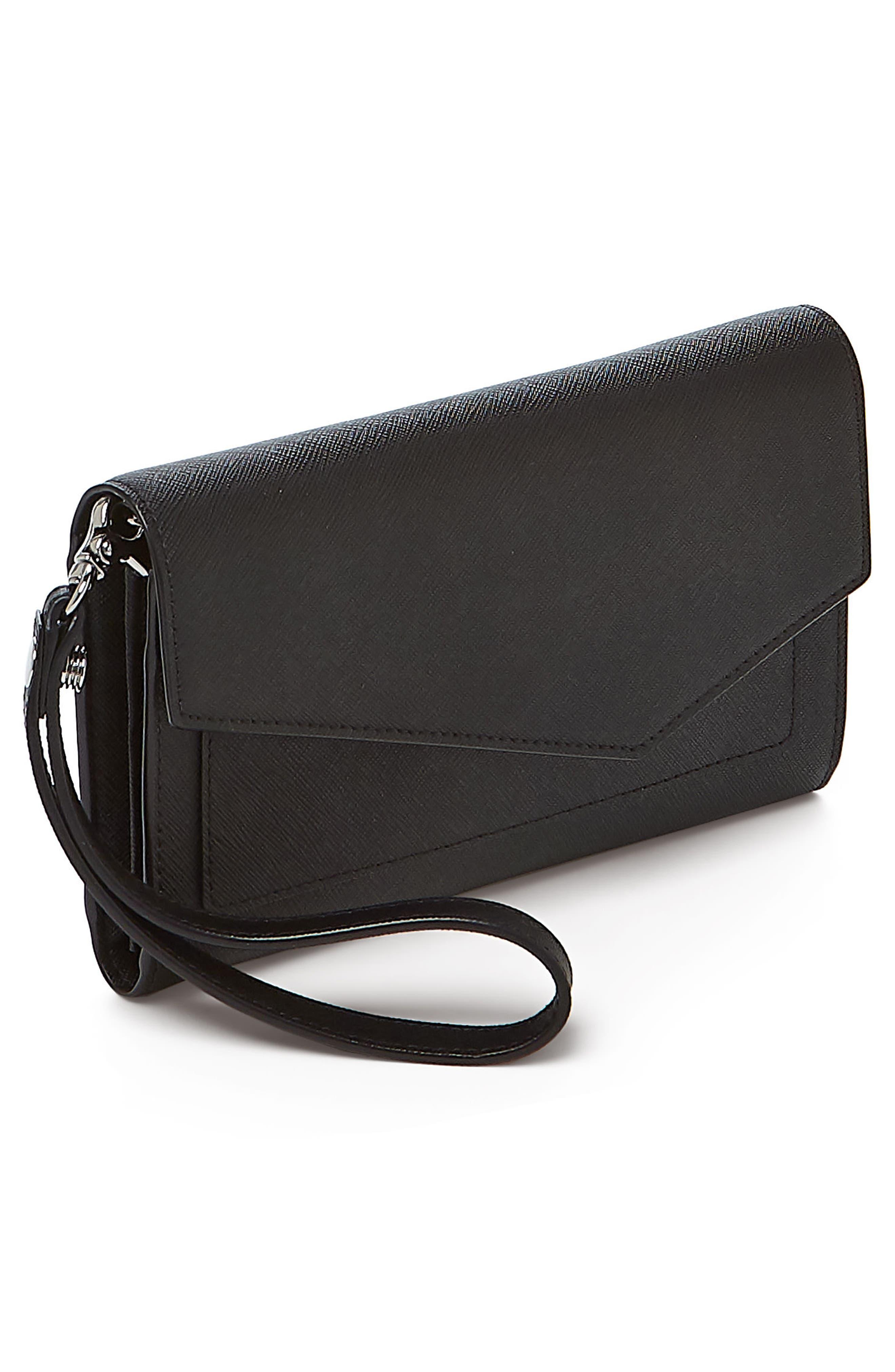 Cobble Hill Calfskin Leather Wallet,                             Alternate thumbnail 4, color,                             Black