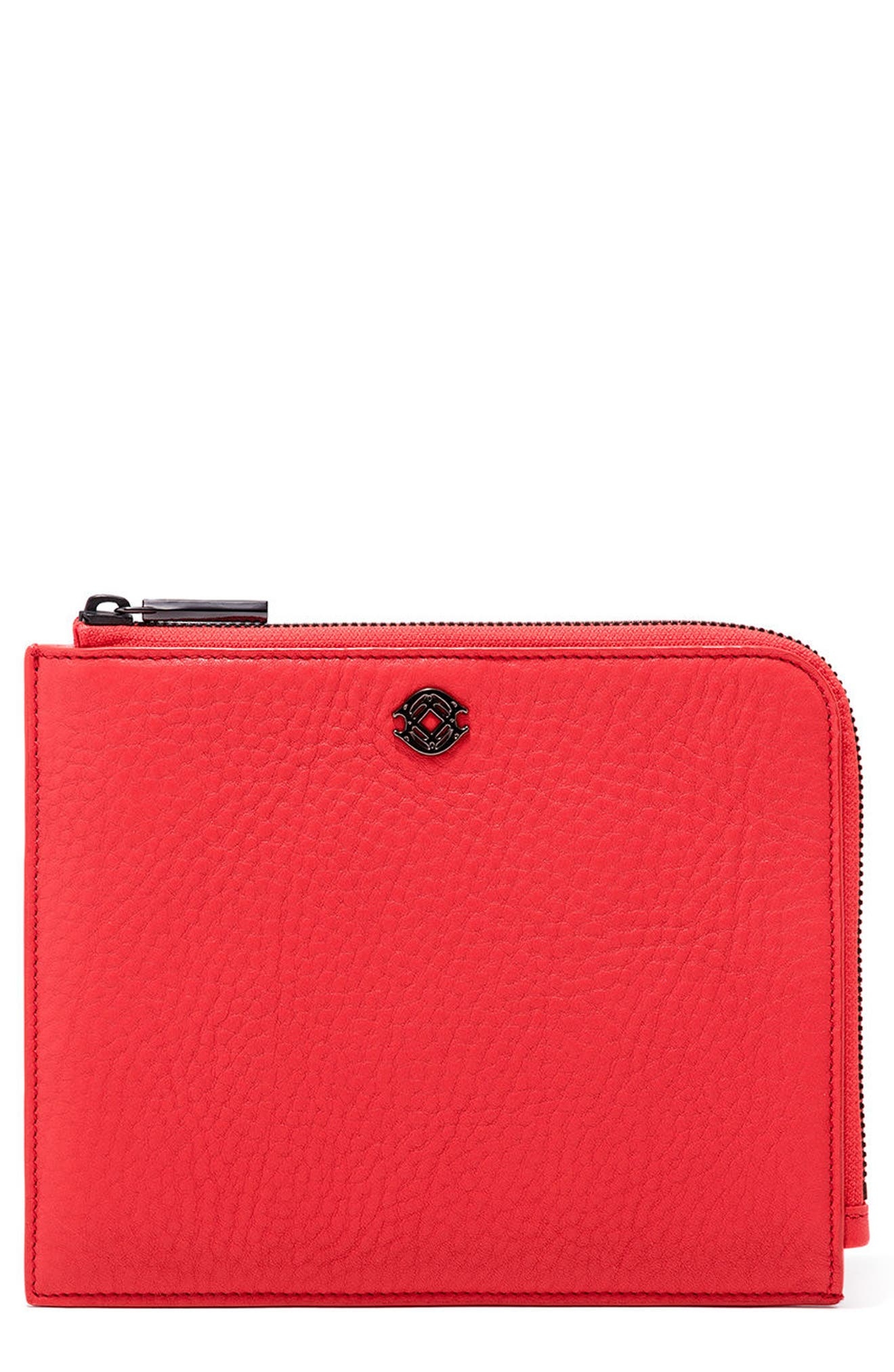 Main Image - Dagne Dover Small Elle Leather Clutch