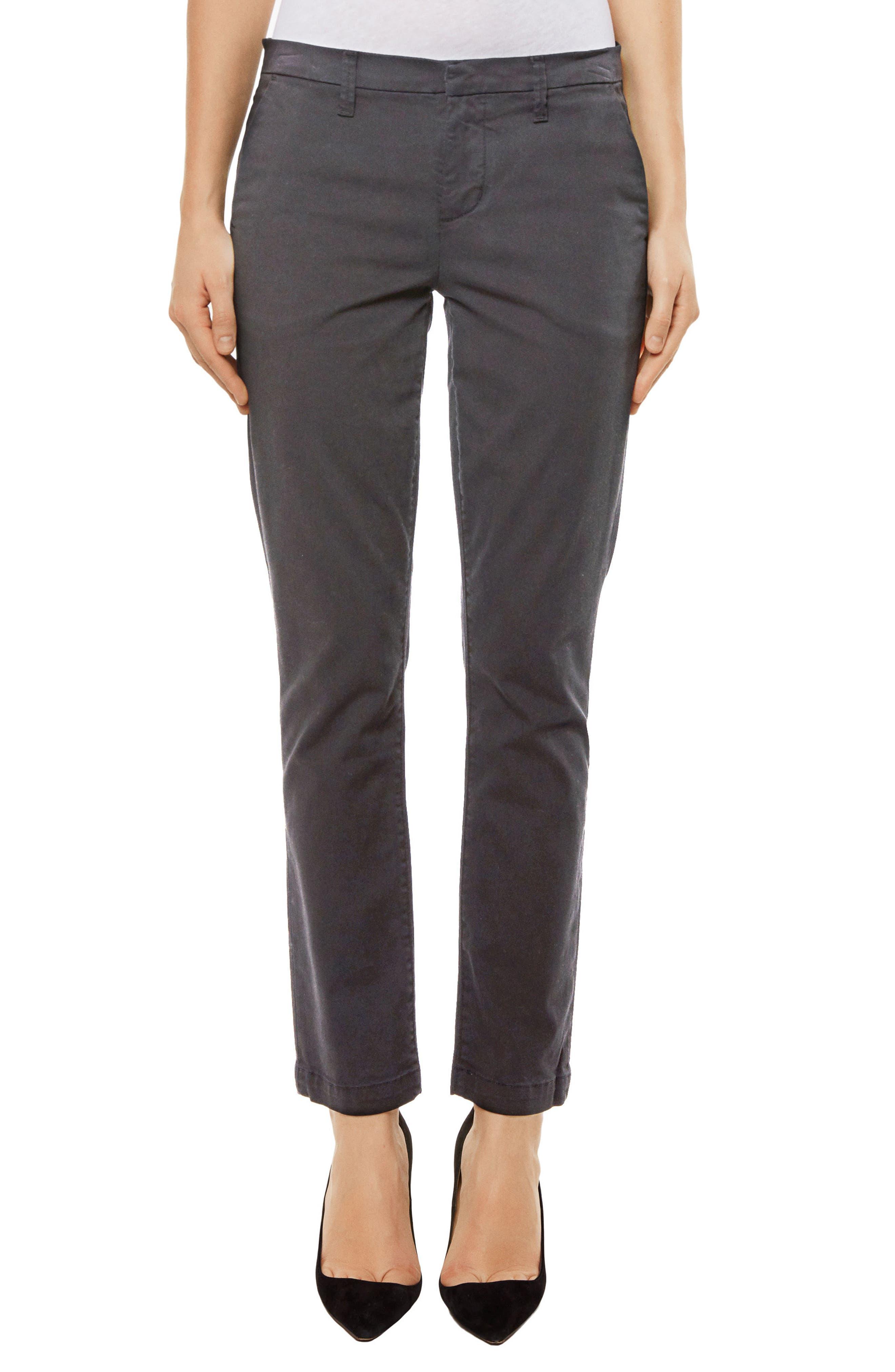 Clara Ankle Trousers,                         Main,                         color, Zinc