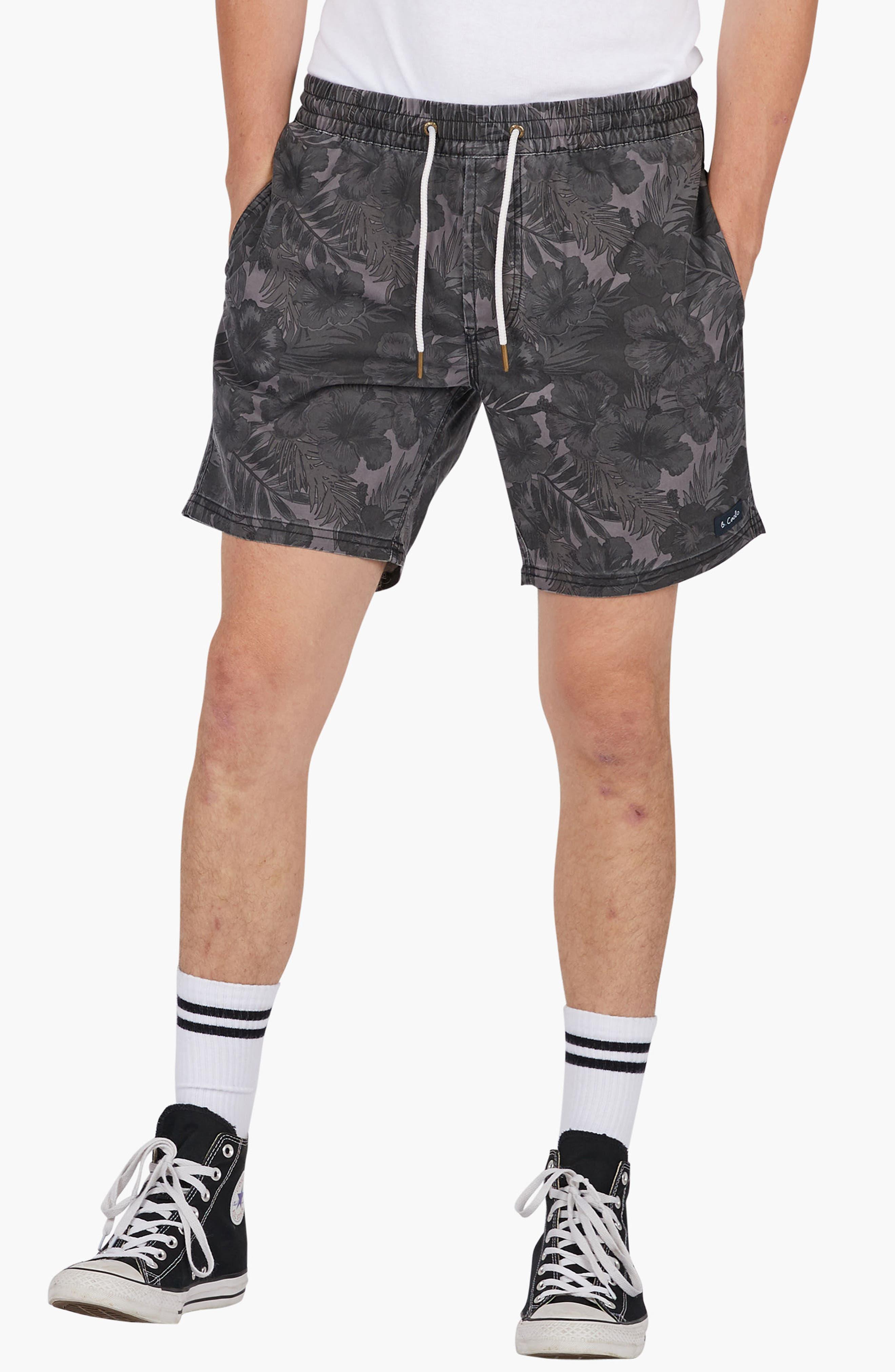 Amphibious Shorts,                             Alternate thumbnail 4, color,                             Black Floral