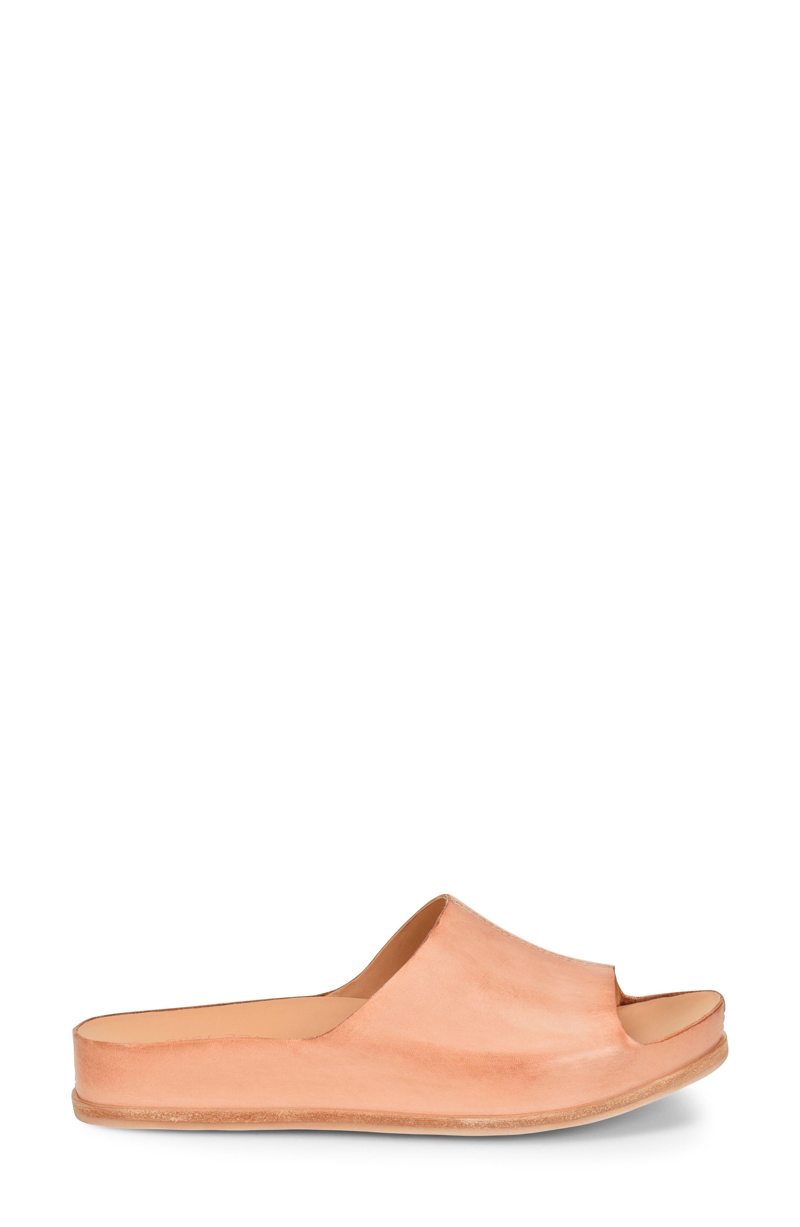 'Tutsi' Slide Sandal,                             Alternate thumbnail 3, color,                             Blush Leather