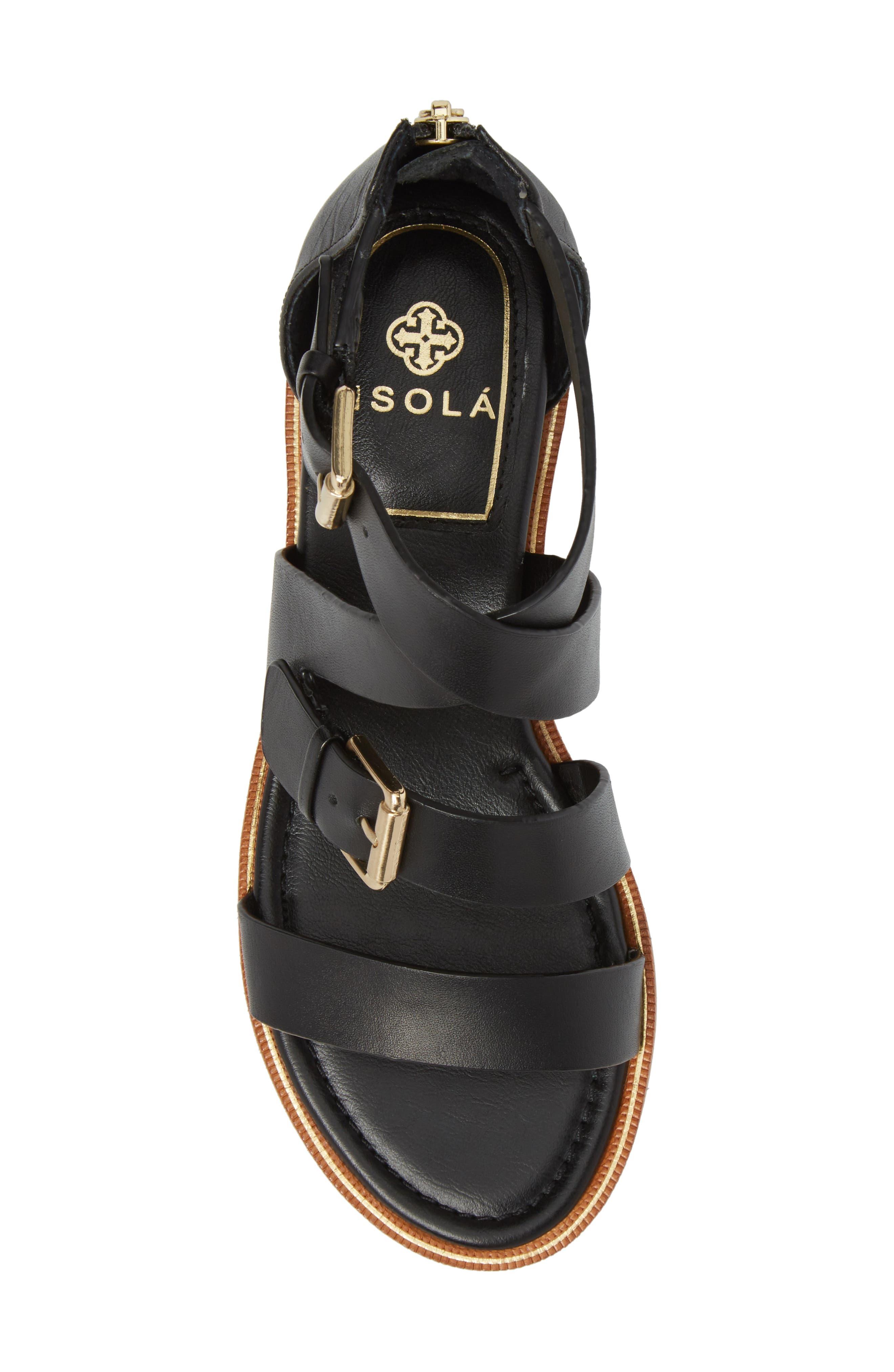 Isola Sharni Sandal,                             Alternate thumbnail 5, color,                             Black Leather