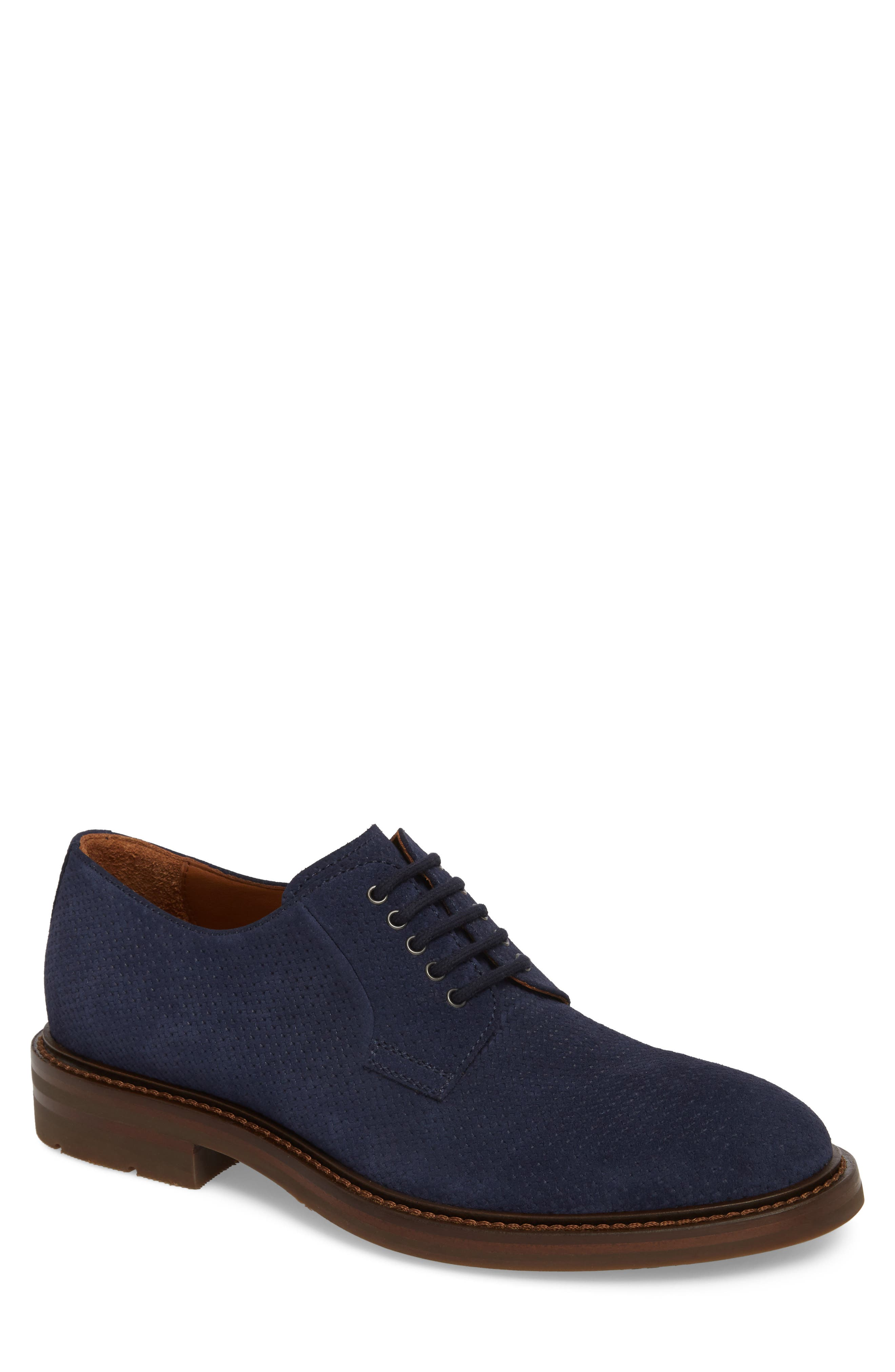 Roberto Embossed Weatherproof Oxford,                             Main thumbnail 1, color,                             Navy