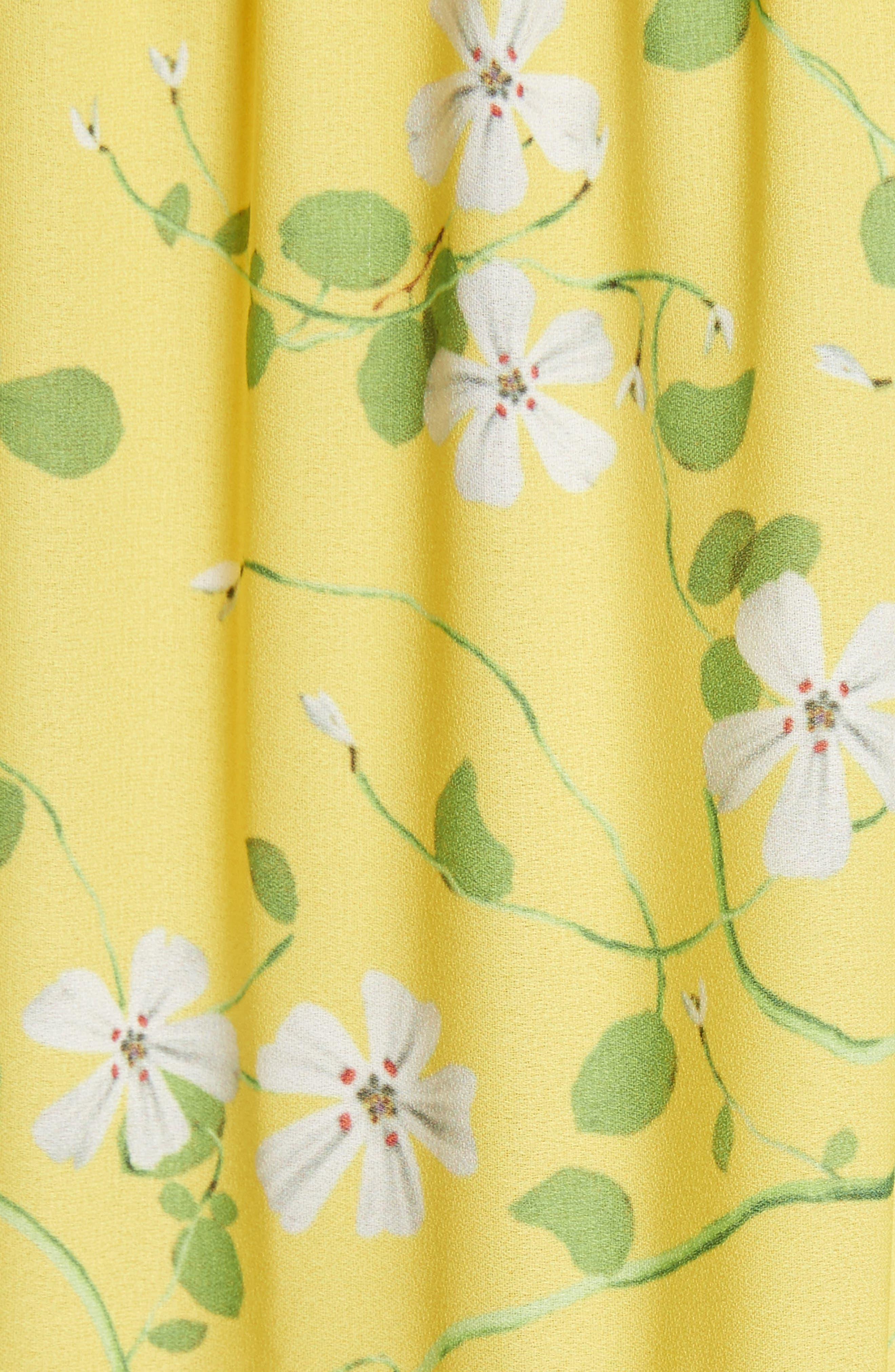 Karolina Print Maxi Dress,                             Alternate thumbnail 5, color,                             Spring Primrose-Lemon