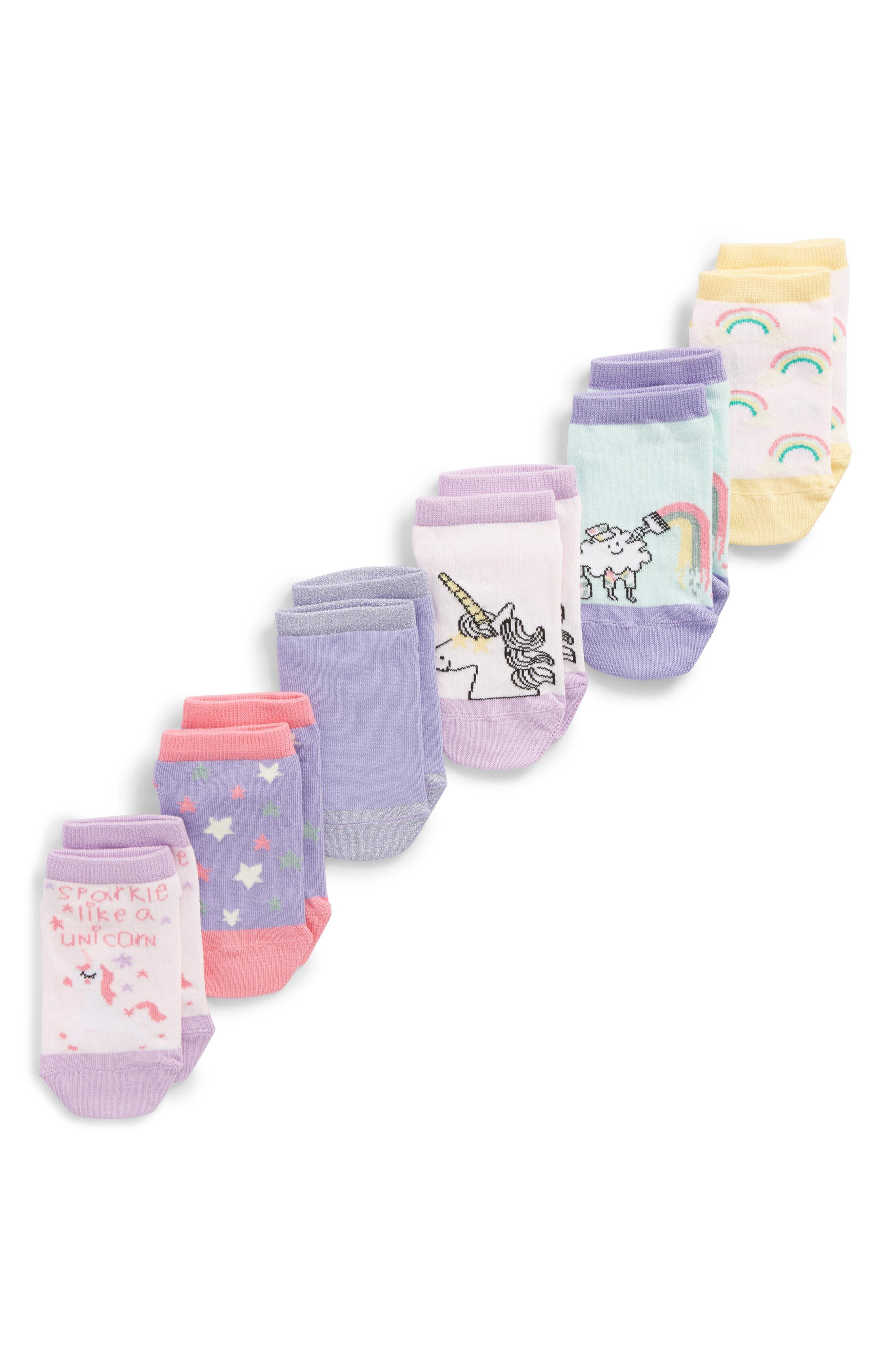 6-Pack Assorted Low Cut Socks,                             Main thumbnail 1, color,                             Grey/Purple Multi