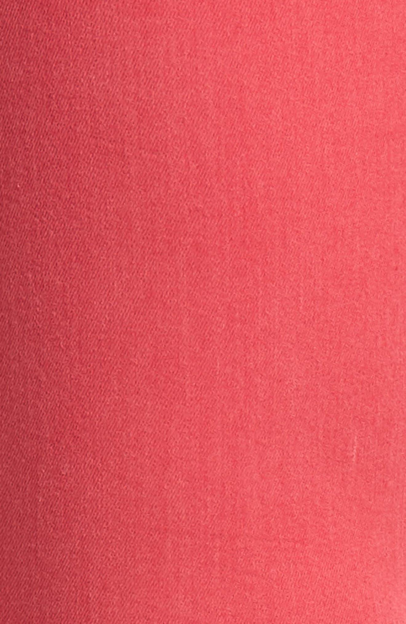 Released Hem Ankle Skinny Jeans,                             Alternate thumbnail 6, color,                             Cherry Ice