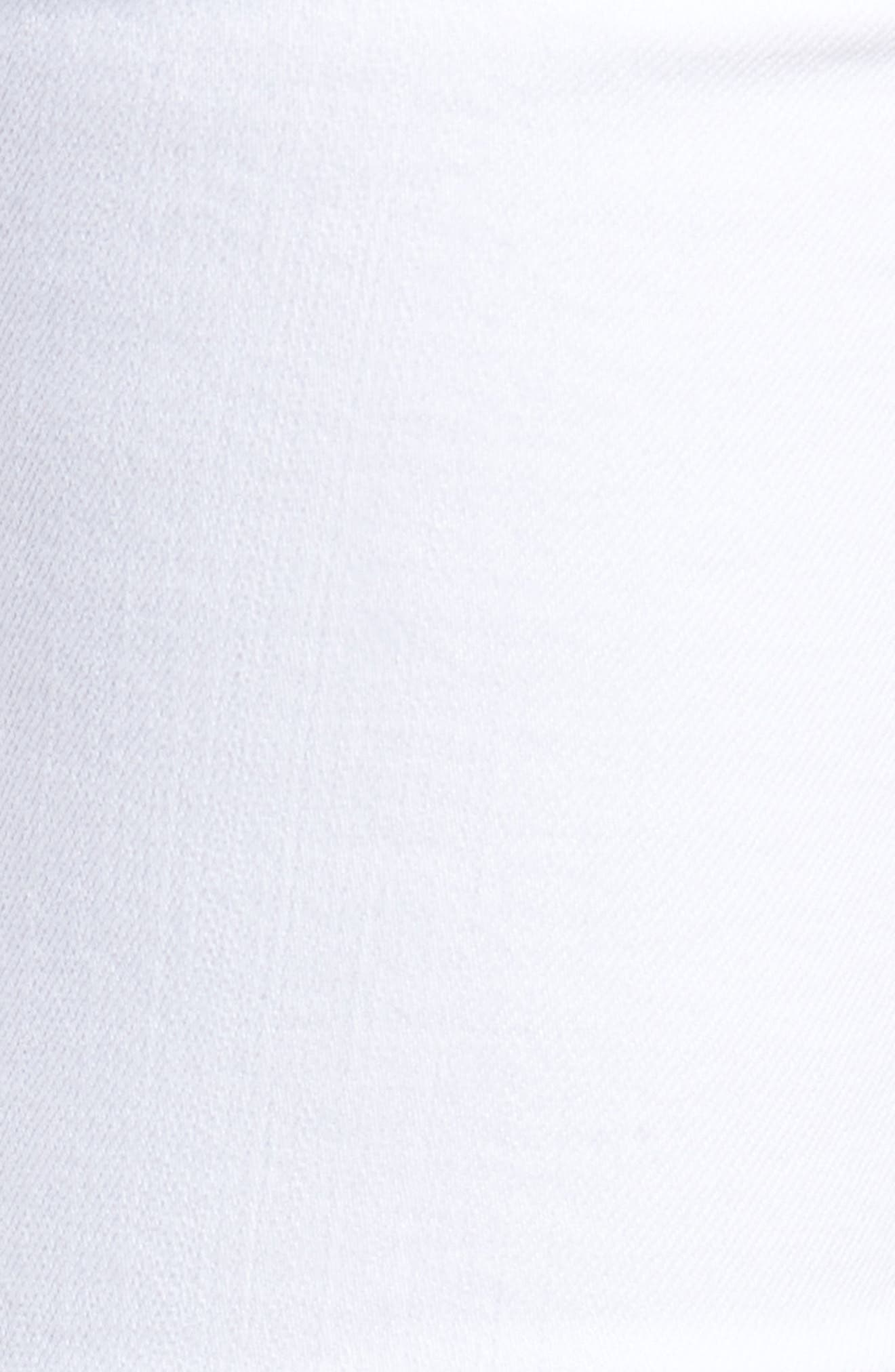 Racer Skinny Jeans,                             Alternate thumbnail 6, color,                             Optic White